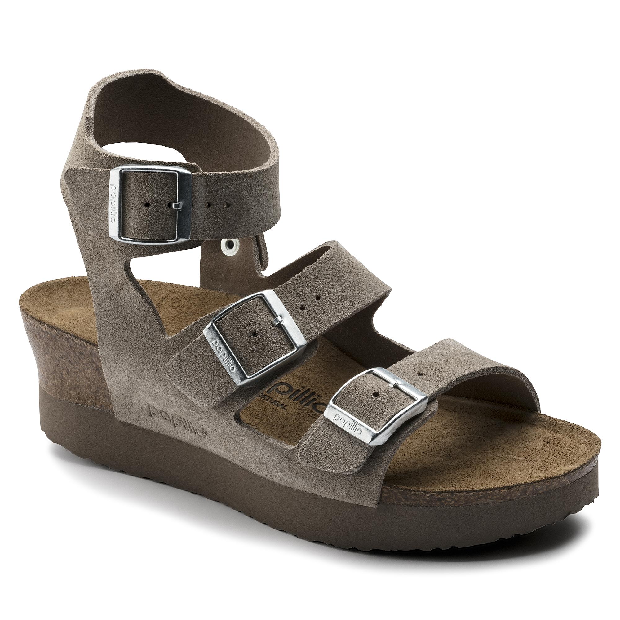 Linnea Suede Leather Taupe | shop