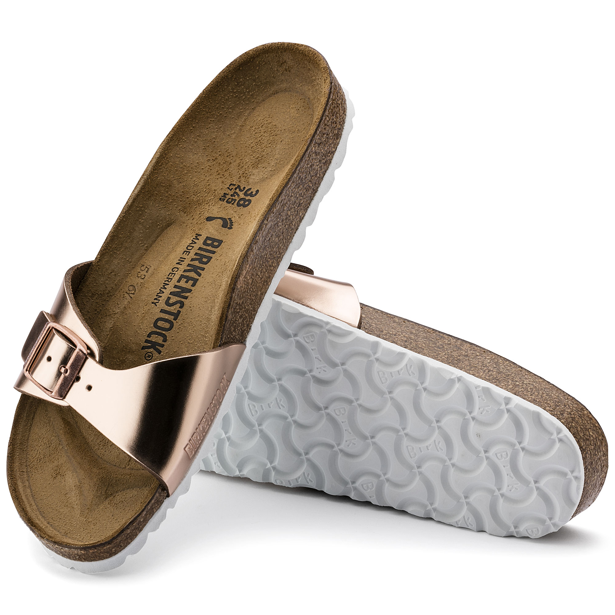 official photos e4b31 75155 Madrid Leather Metallic Copper