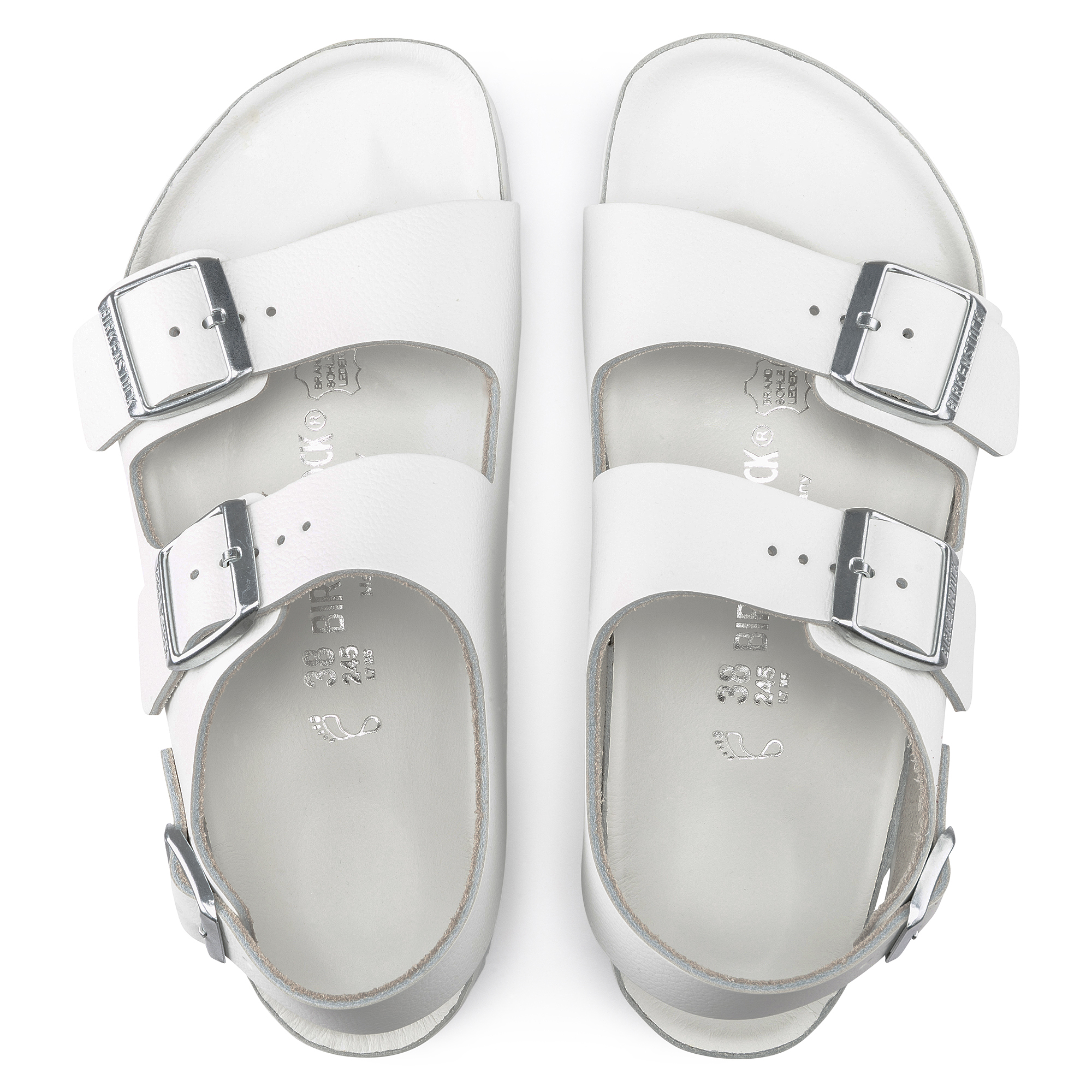 9ca47aa5f2b ... Milano Natural Leather White ...