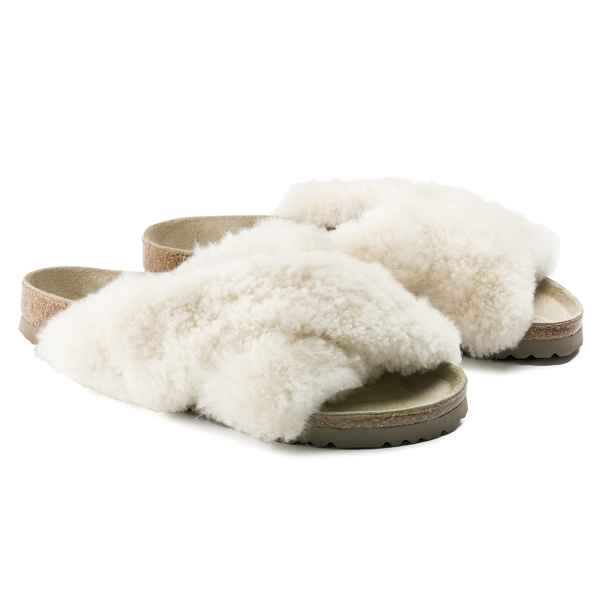 Birkenstock Women's Birkenstock Papillio Daytona Suede Shearling Slide Sandals from shoes | ShapeShop