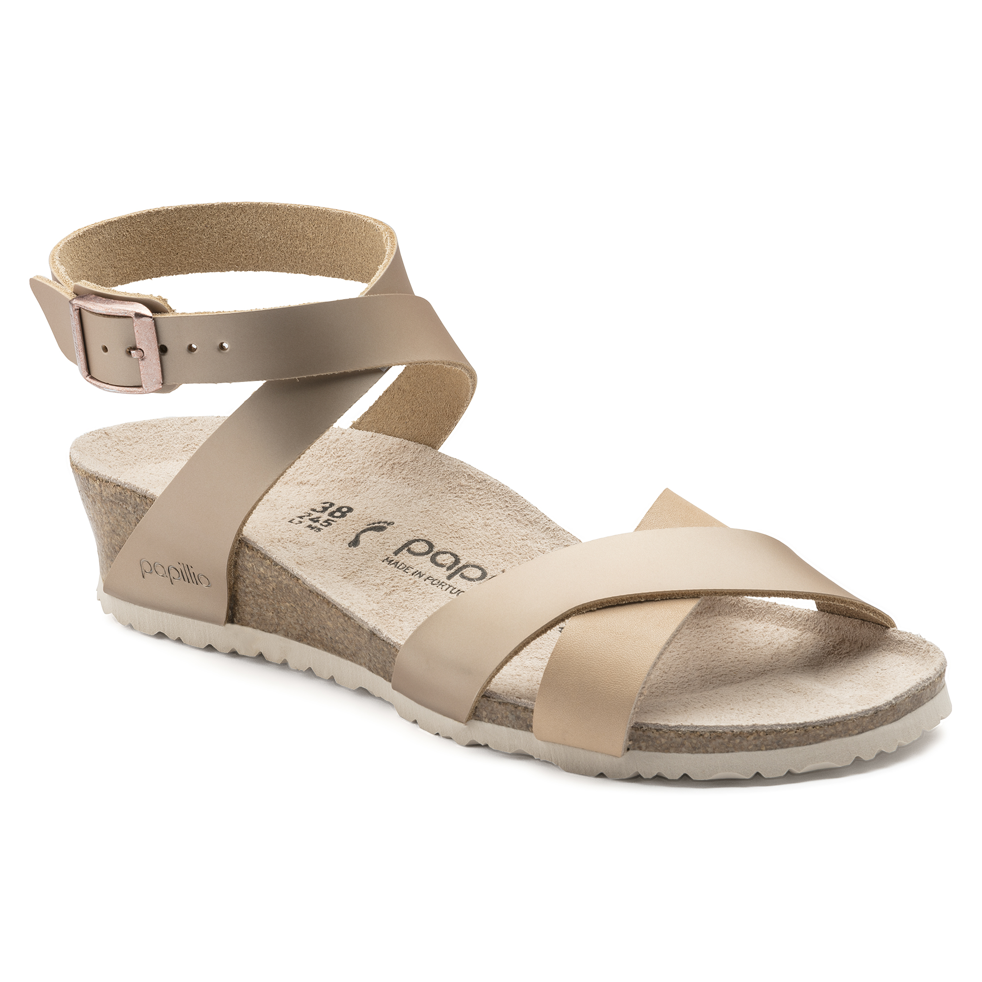59adf02e6c1 Lola Natural Leather Frosted Metallic Rose ...
