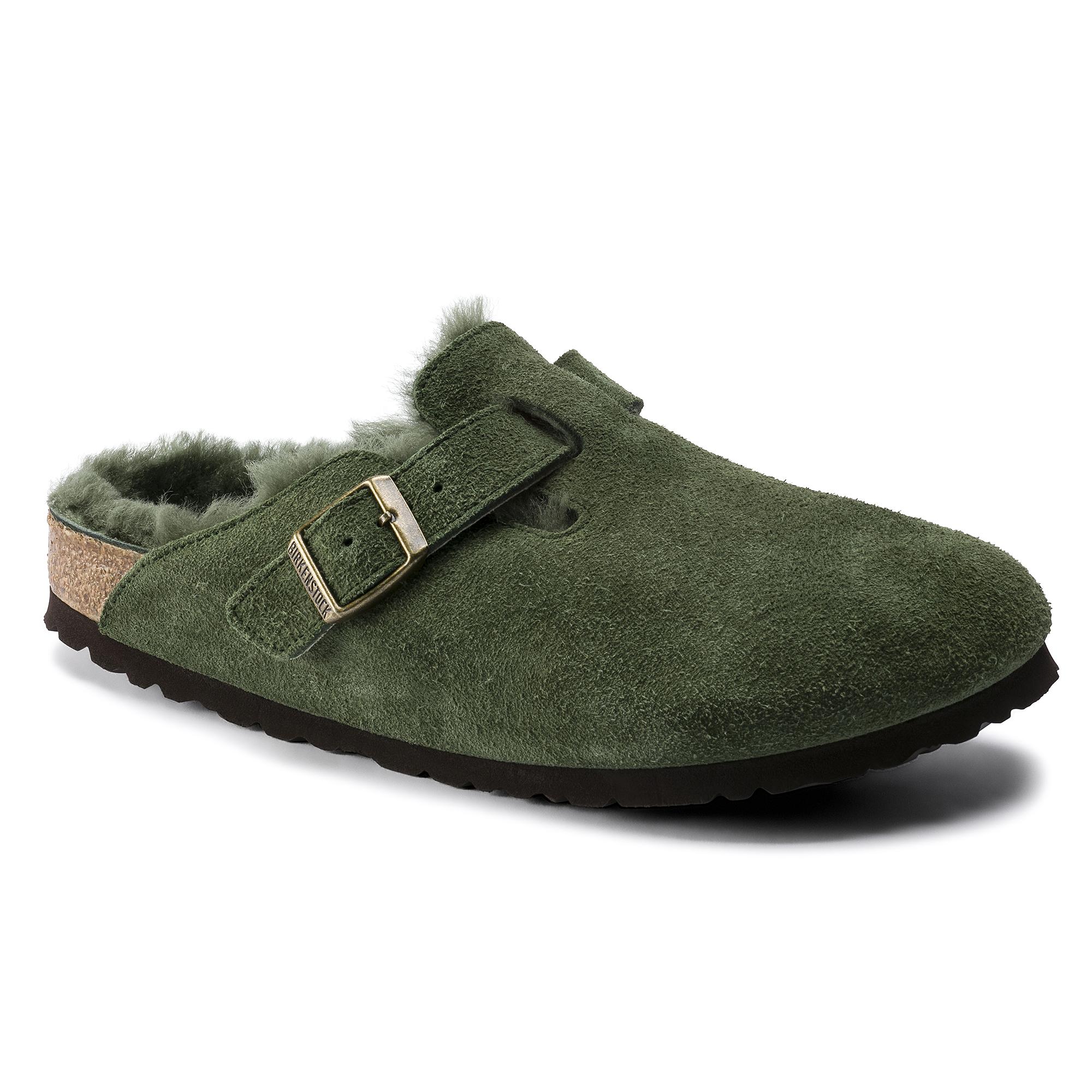 birkenstock suede green