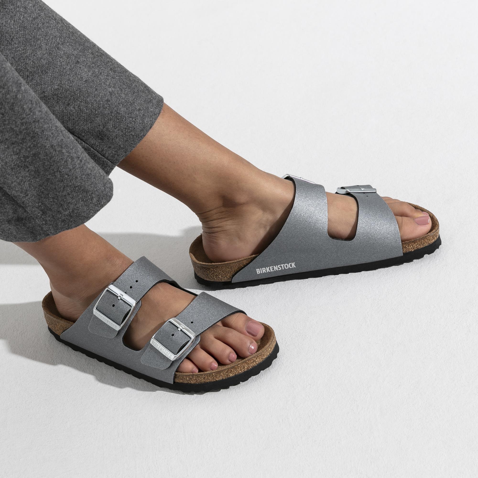 Birkenstock Arizona BF Sandals Icy Metallic Anthracite