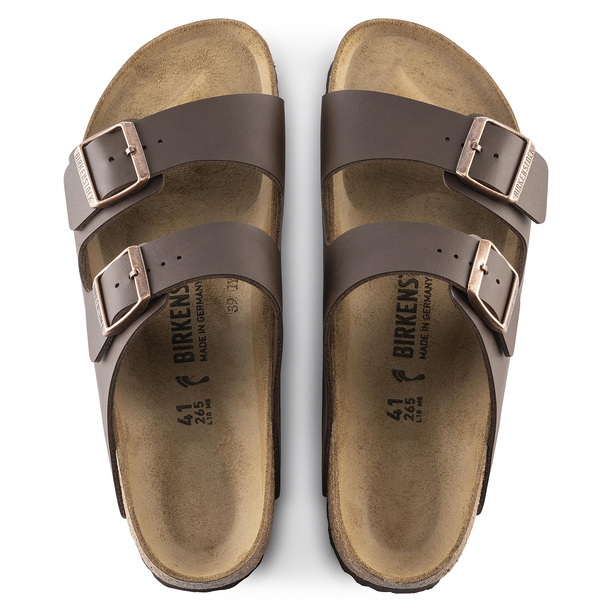 Birkenstock Arizona Birko Flor Soft Leather Sandals dark