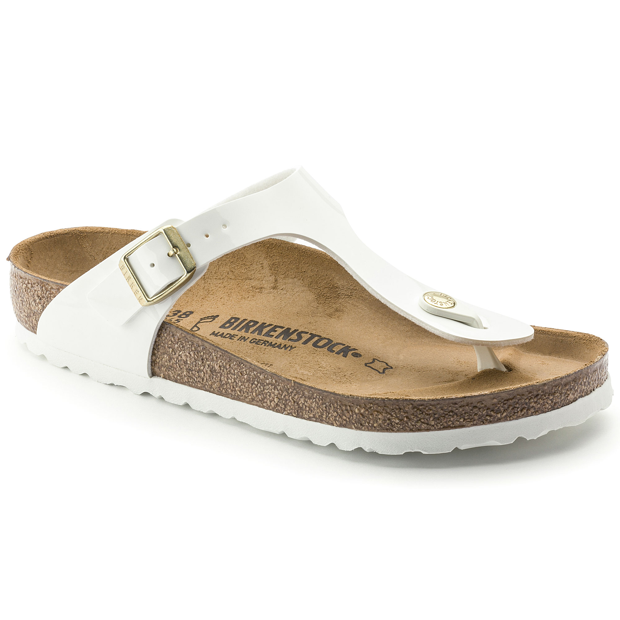 Amazing Deal on BIRKENSTOCK Gizeh Birko Flor Patent White