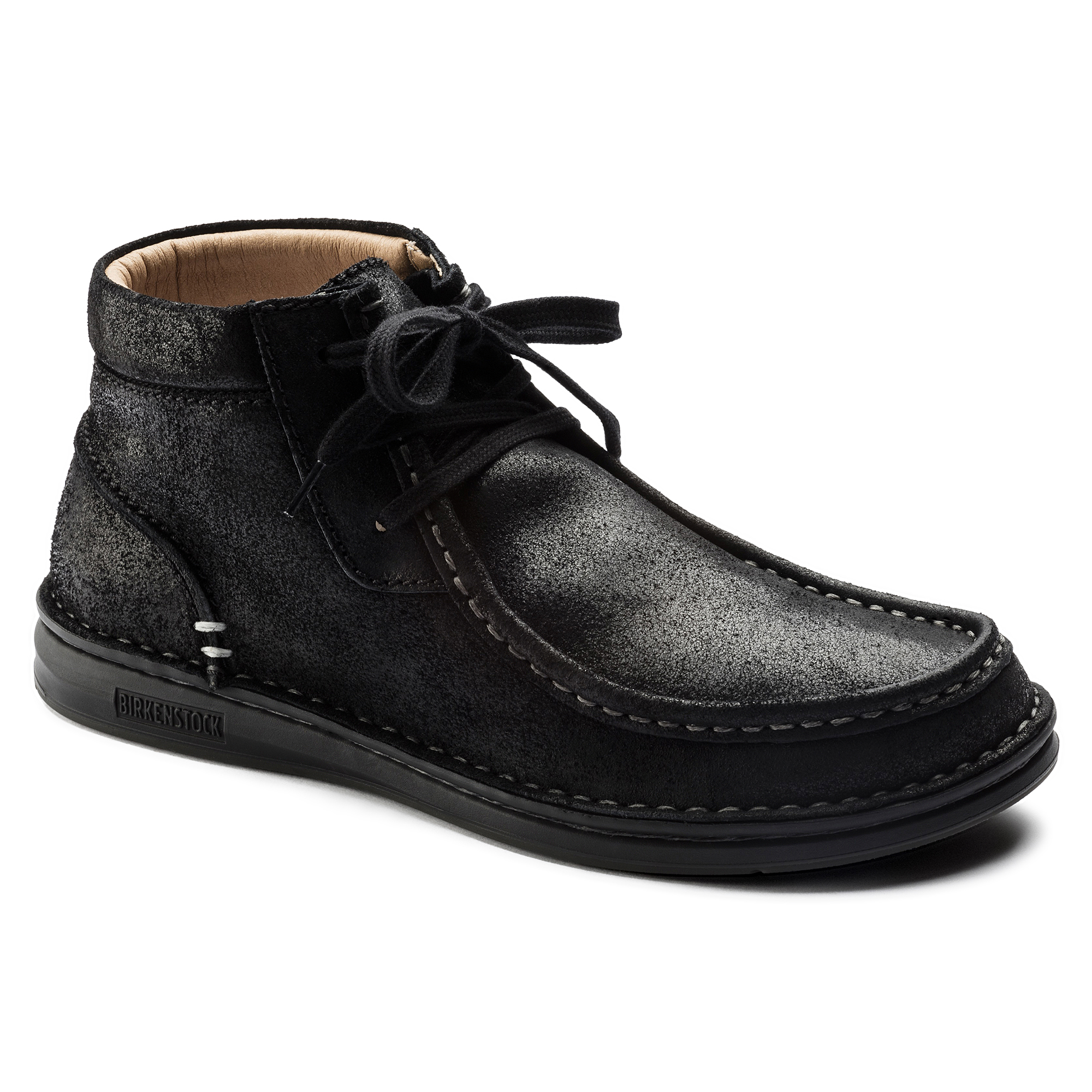 Pasadena Suede Leather Schwarz