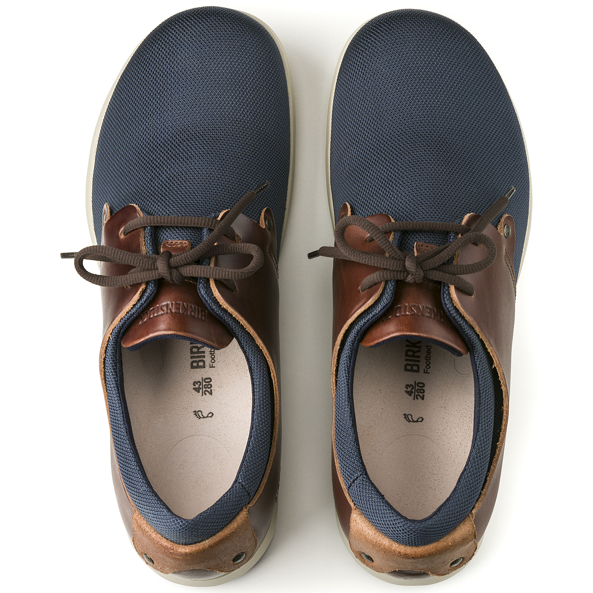 best website 89c53 26680 Minot Natural Leather/Textile Blue/Brown