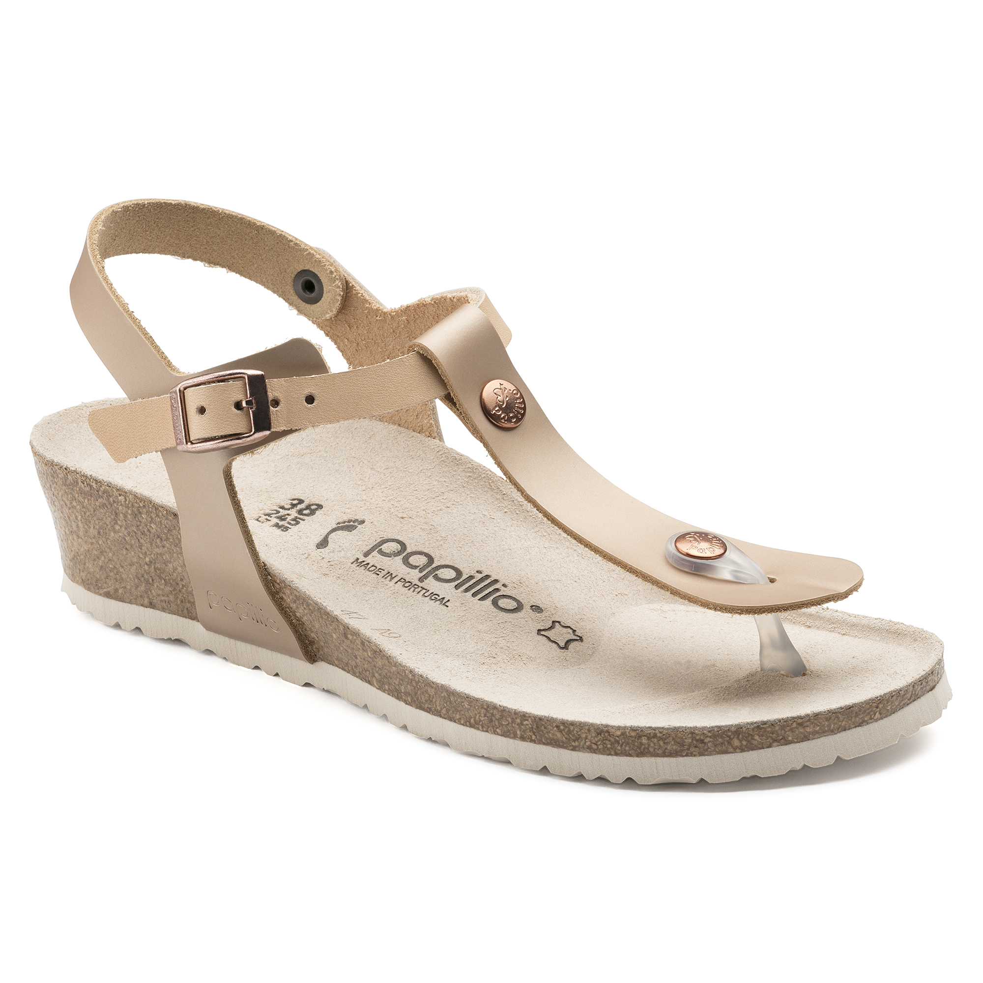 Ashley Natural Leather Frosted Metallic Rose