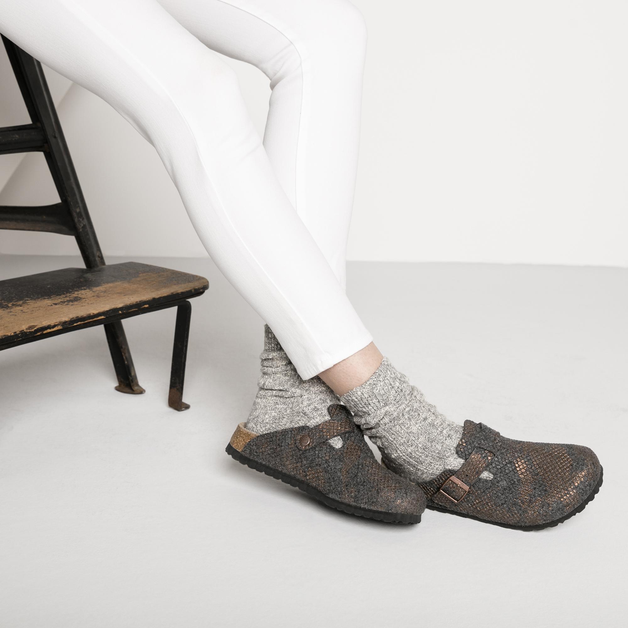 Papillio Boston Wool Felt Open-Back Slip-On Clogs Womens Sandals