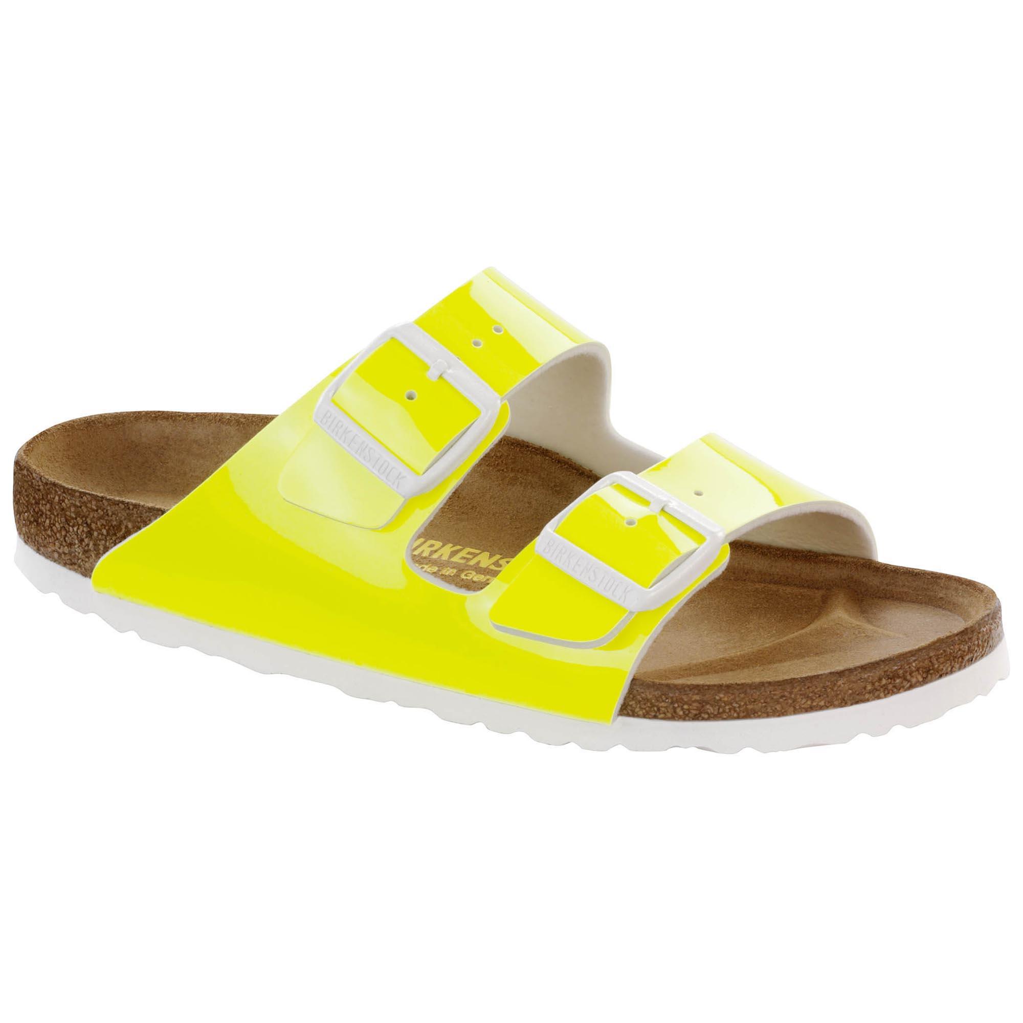 96641ef2c2c5 Arizona Birko-Flor Patent Neon Yellow Patent