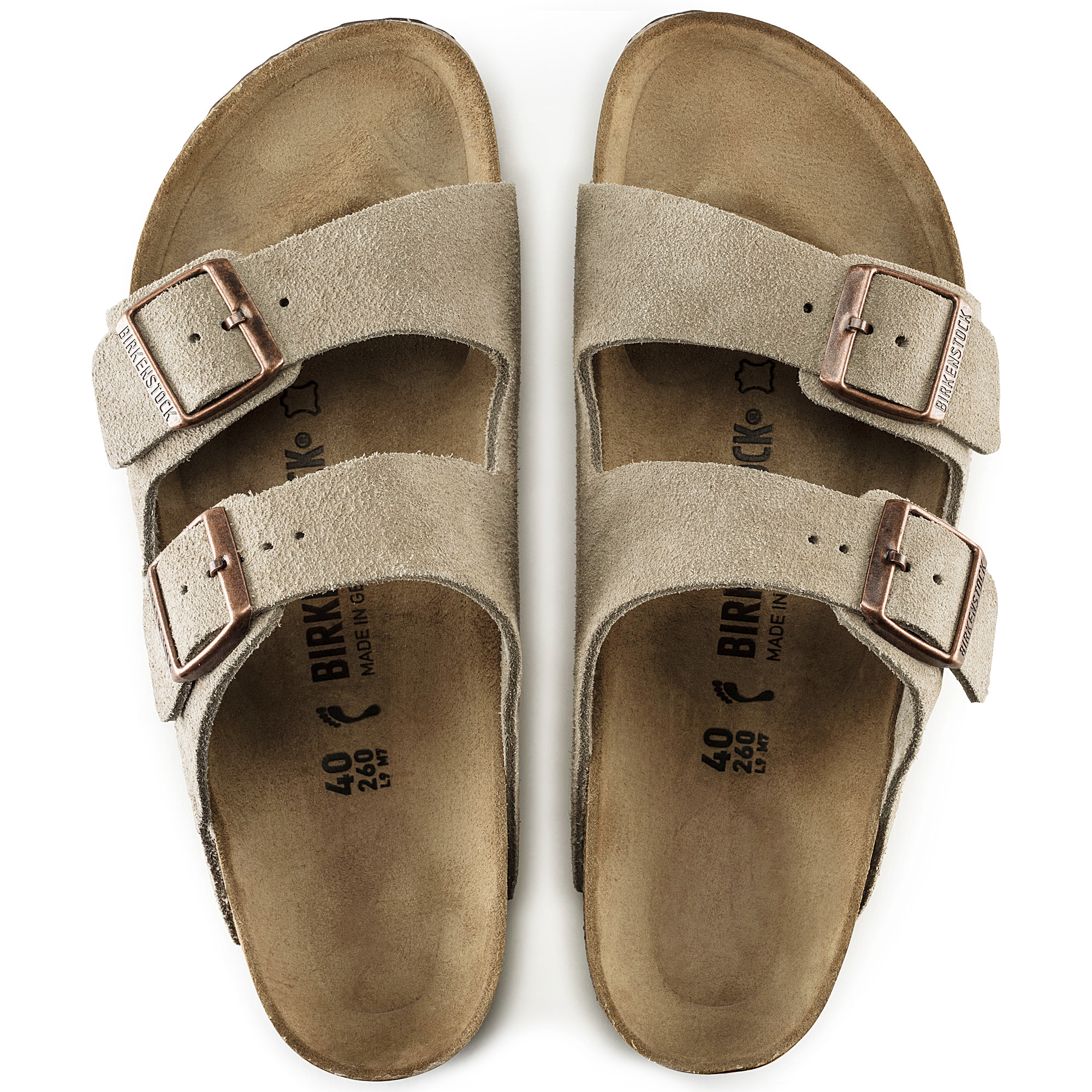 620680b7d52 ... Arizona Suede Leather Taupe
