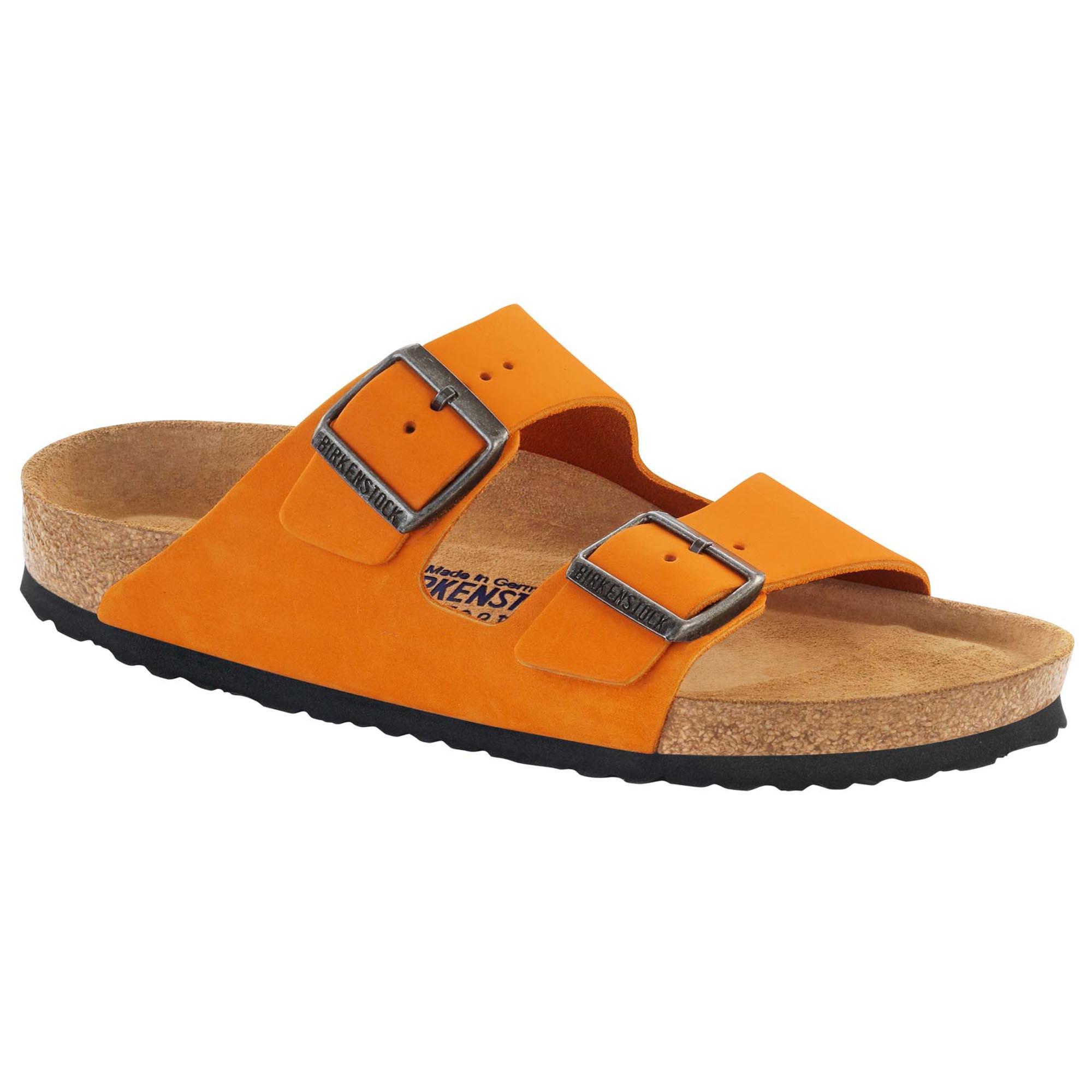 33917491a Arizona Nubuck Leather Orange | shop online at BIRKENSTOCK