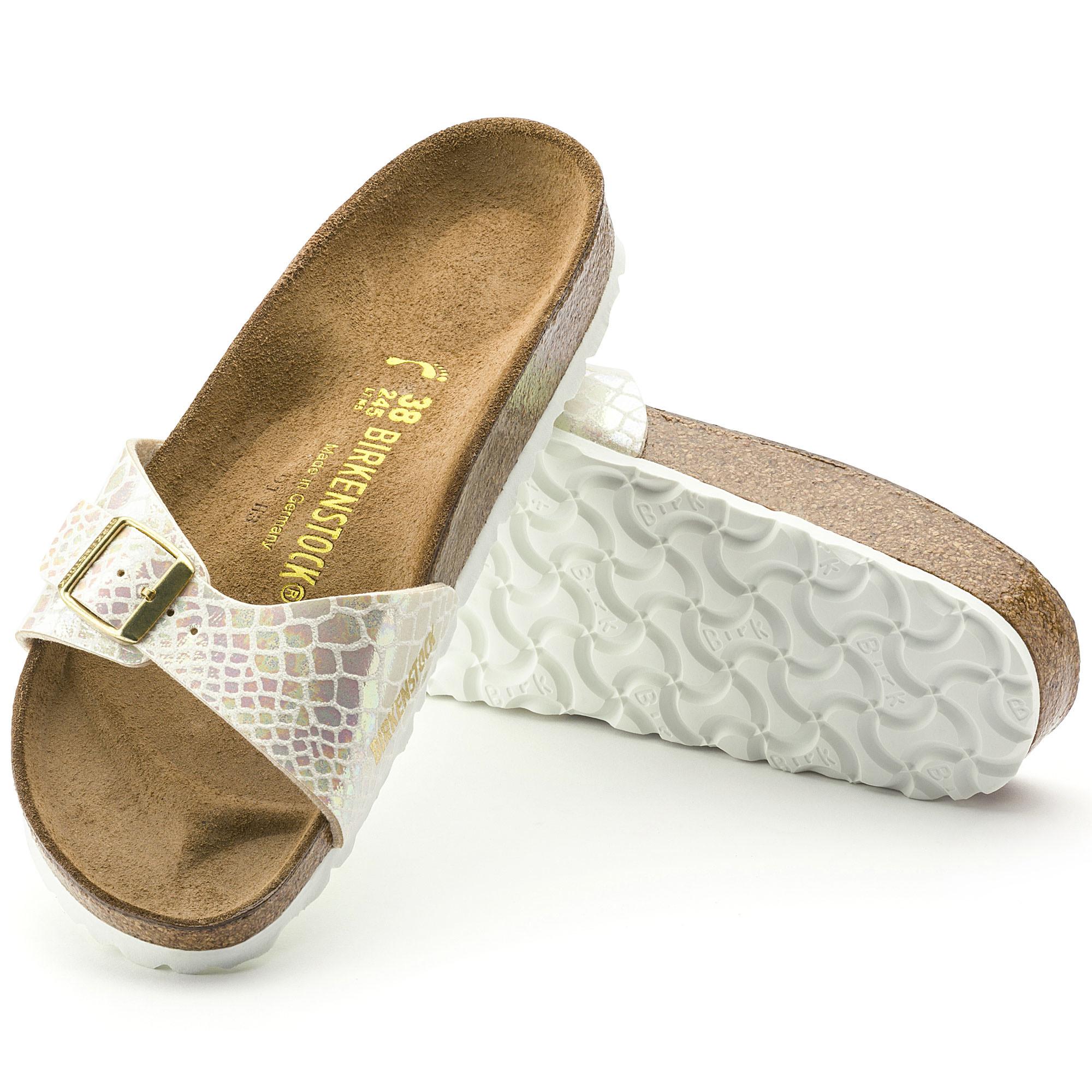 Birkenstock Birkenstock Madrid Bs - Pantolette Comfort - Beige 0439913 Damen R56IbSi