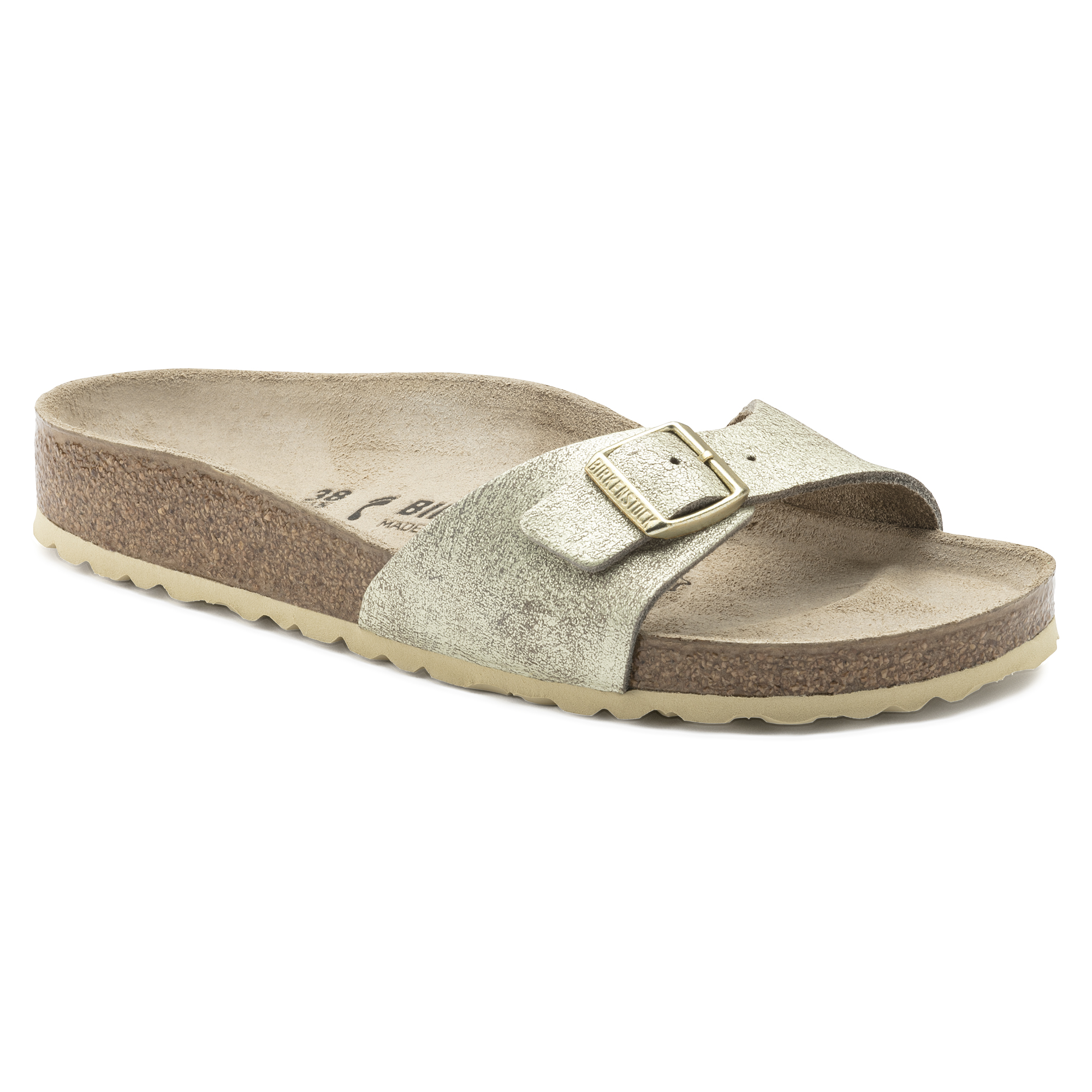 Madrid, Mules Femmes, Or (Washed Metallic Cream Gold), 35 EUBirkenstock