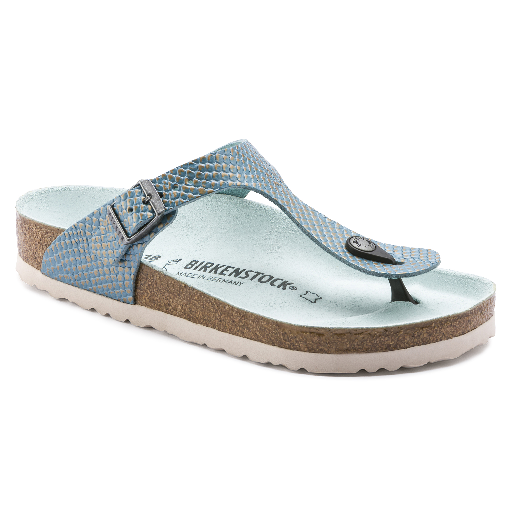 89959f54694f Gizeh Embossed Leather Mermaid Aqua ...