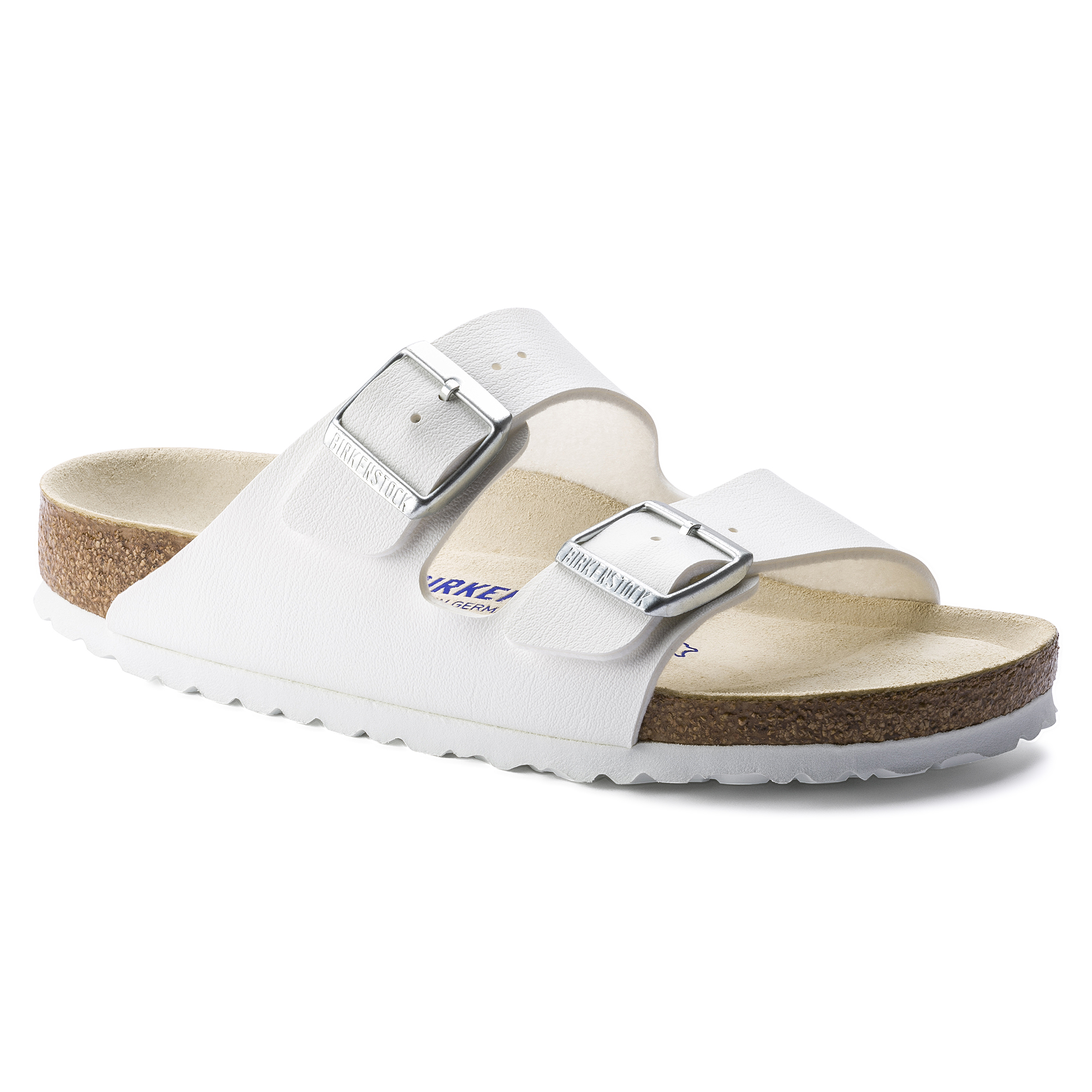 5f2113b6a51 ... Soft Footbed White. Arizona Birko-Flor Weiß ...