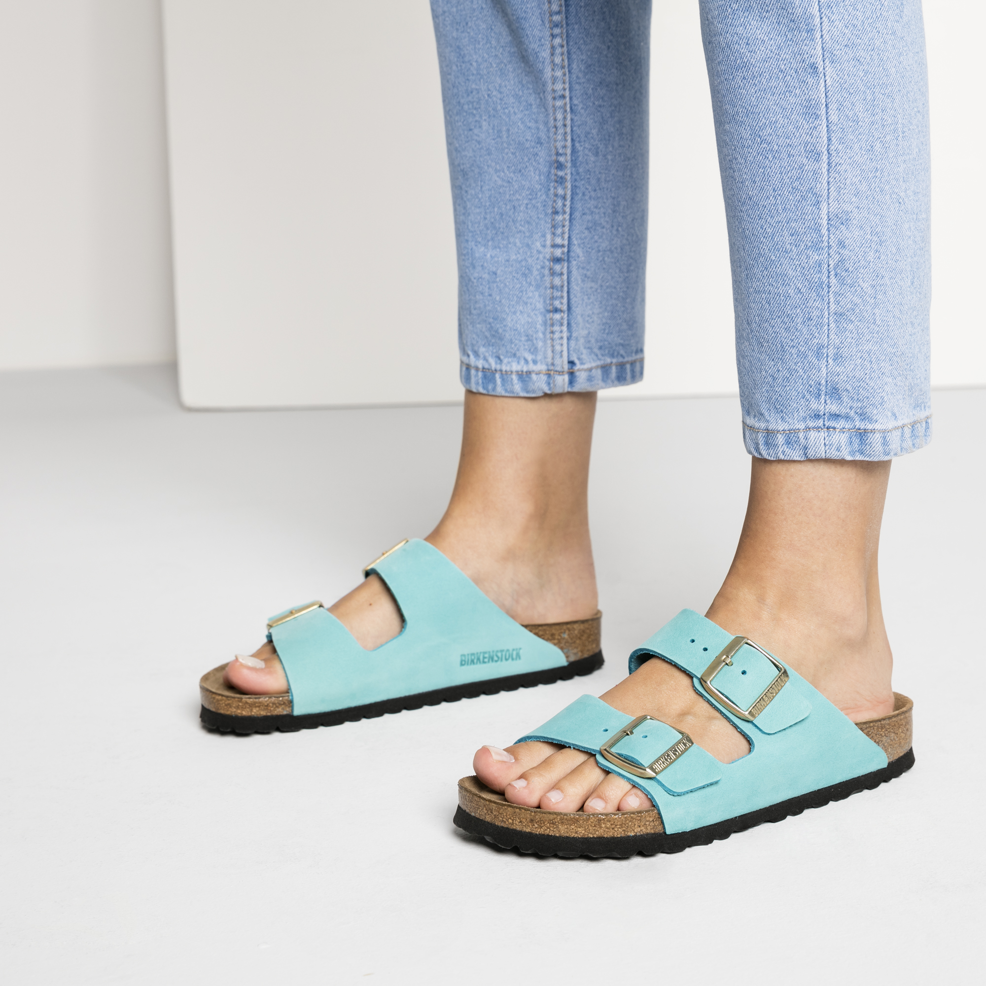Birkenstock Arizona Soft Footbed Turquoise Sandal