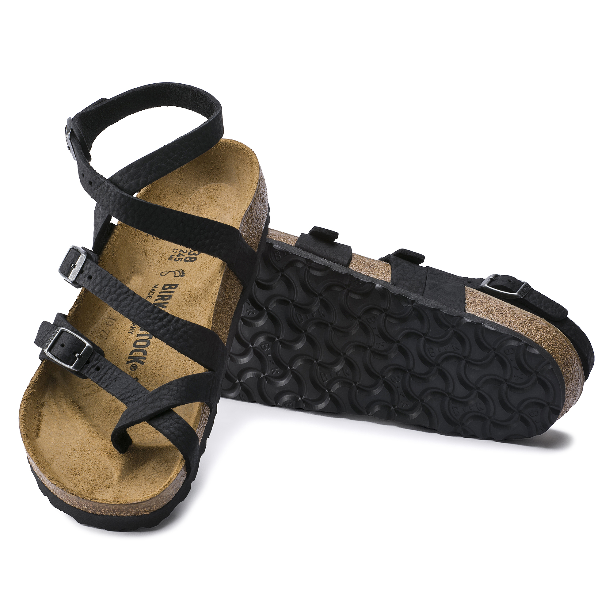 BIRKENSTOCK SANDALS SERES Camberra Old Black natural leather
