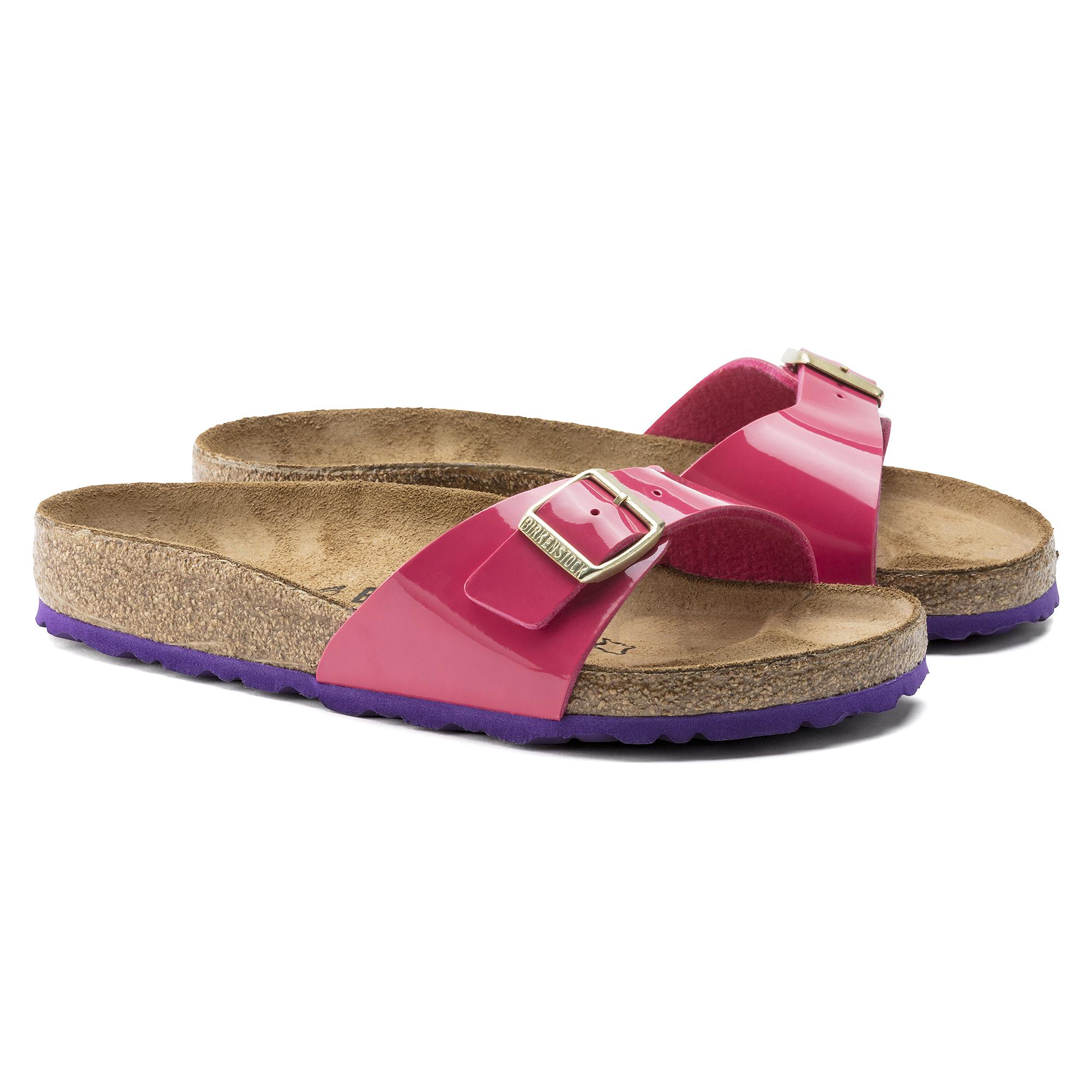 Madrid Birko Flor Patent Lack Pink