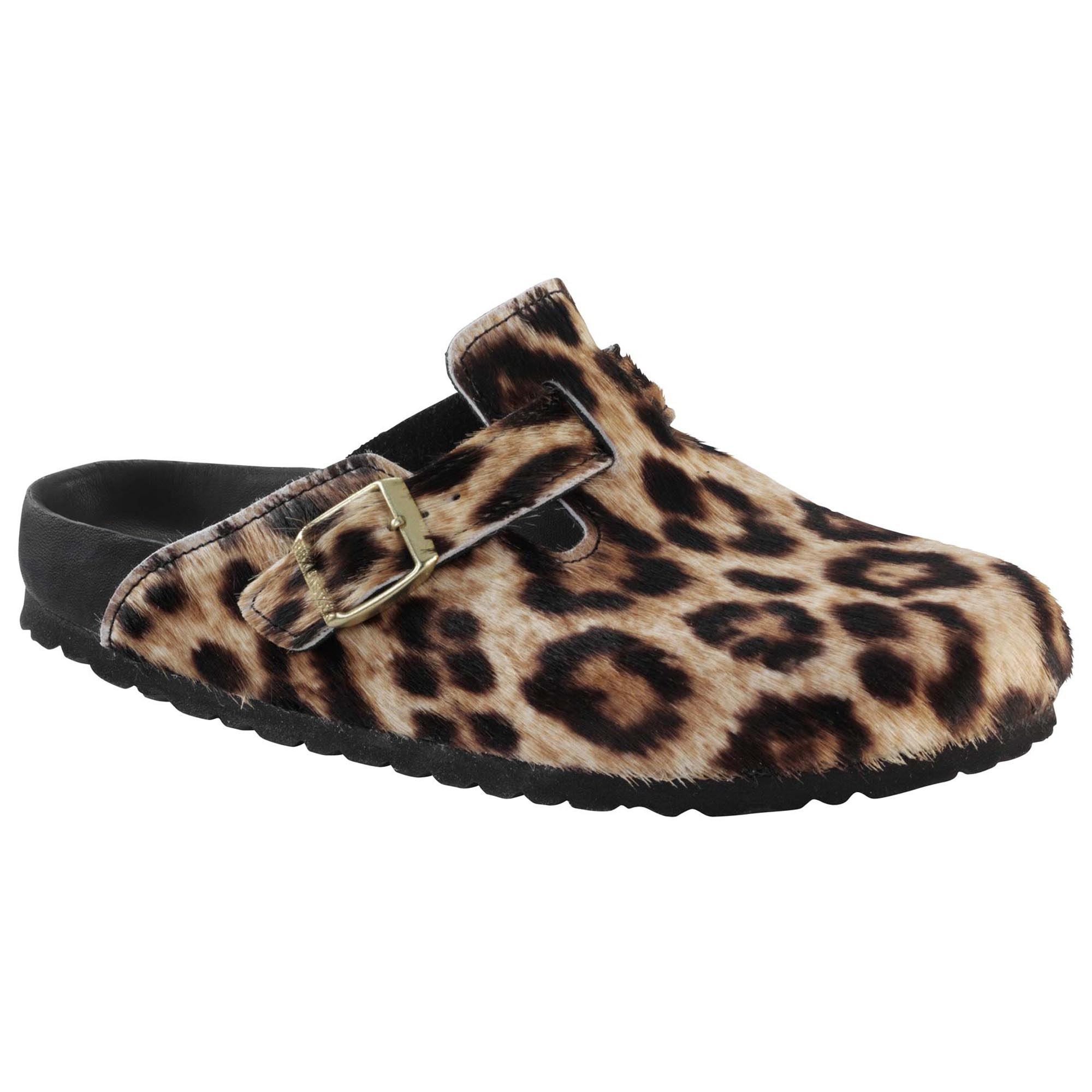 Bronze Leopard print calf hair snow