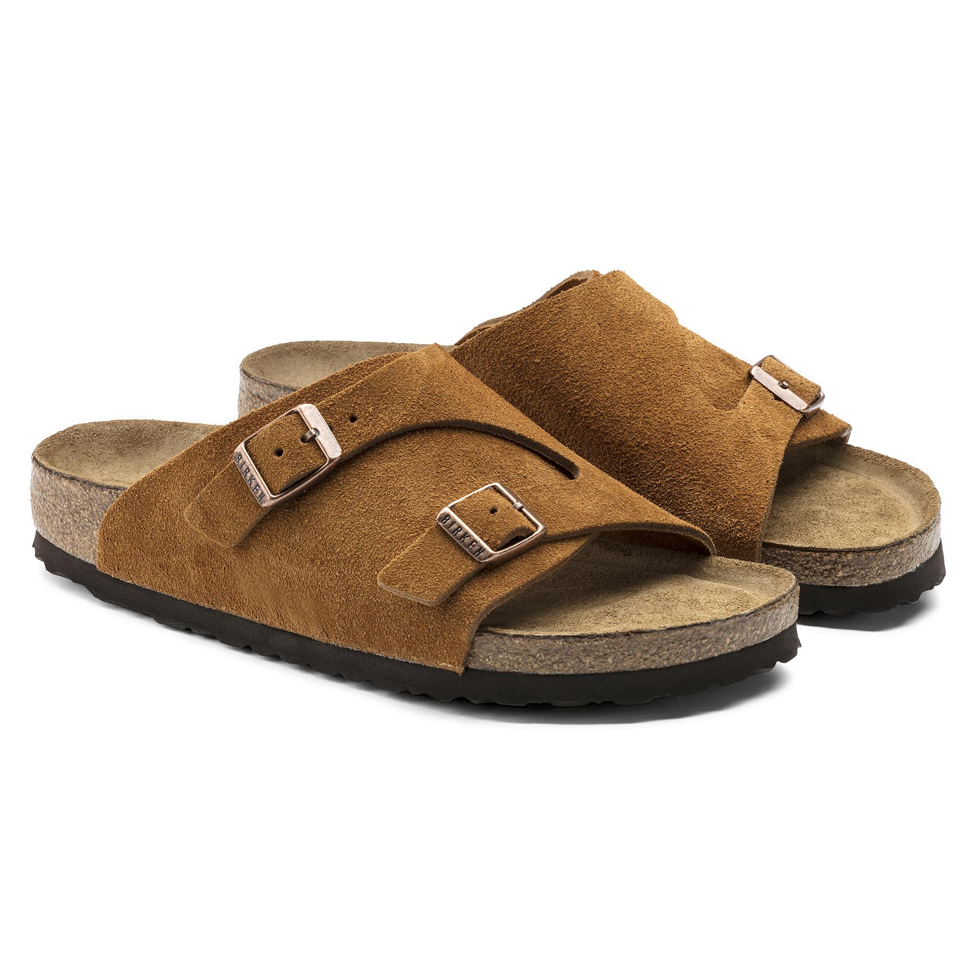 Birkenstock Zurich Leather Dark Orange Sandals