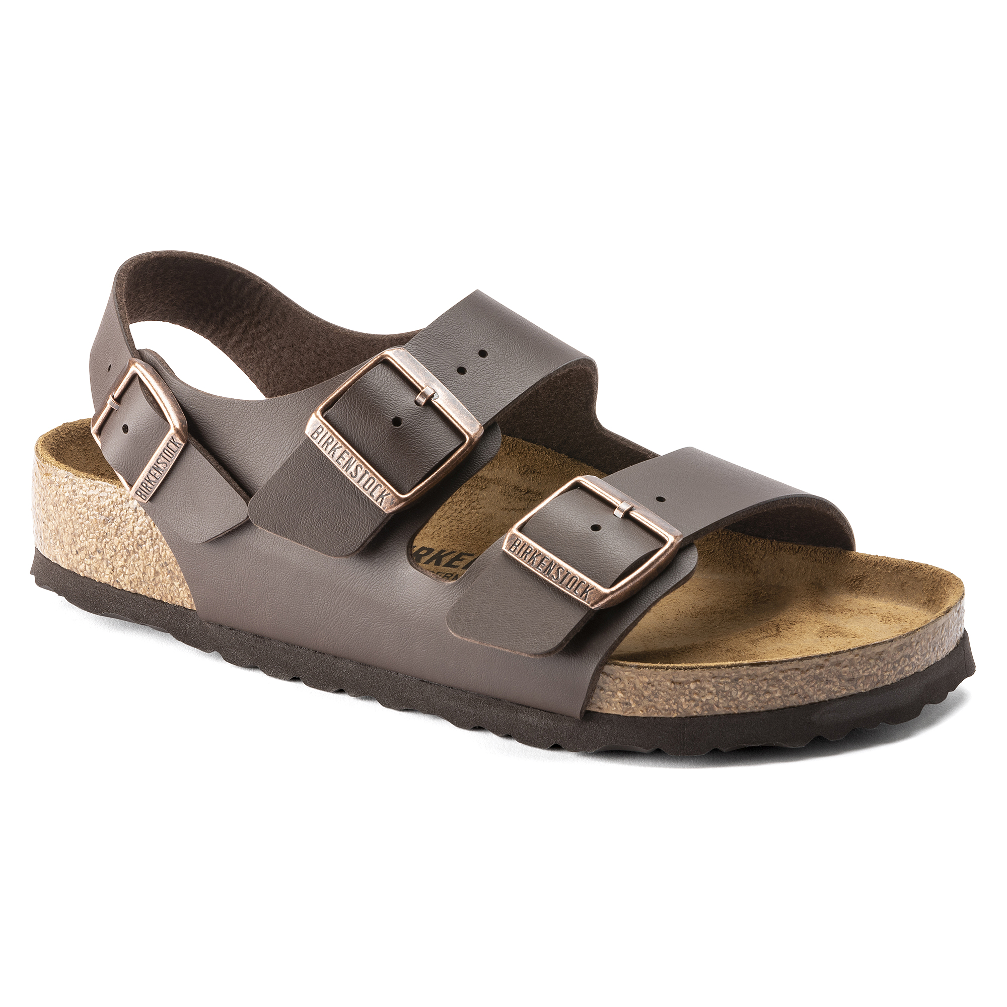 「birkenstock milano birko-flor sandals in dark brown」的圖片搜尋結果
