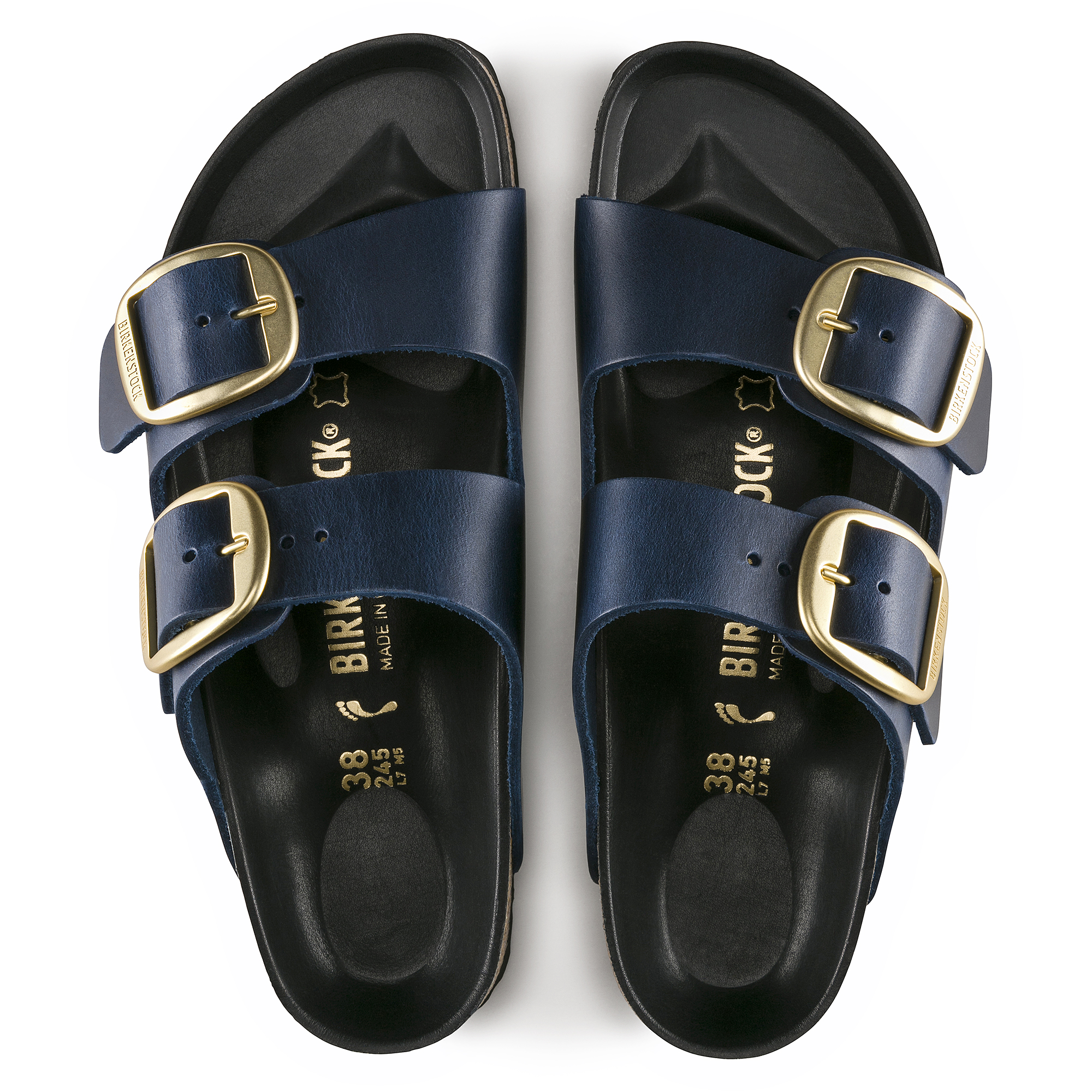 Birkenstock Arizona Big Buckle Women's Shoes Blue Oiled