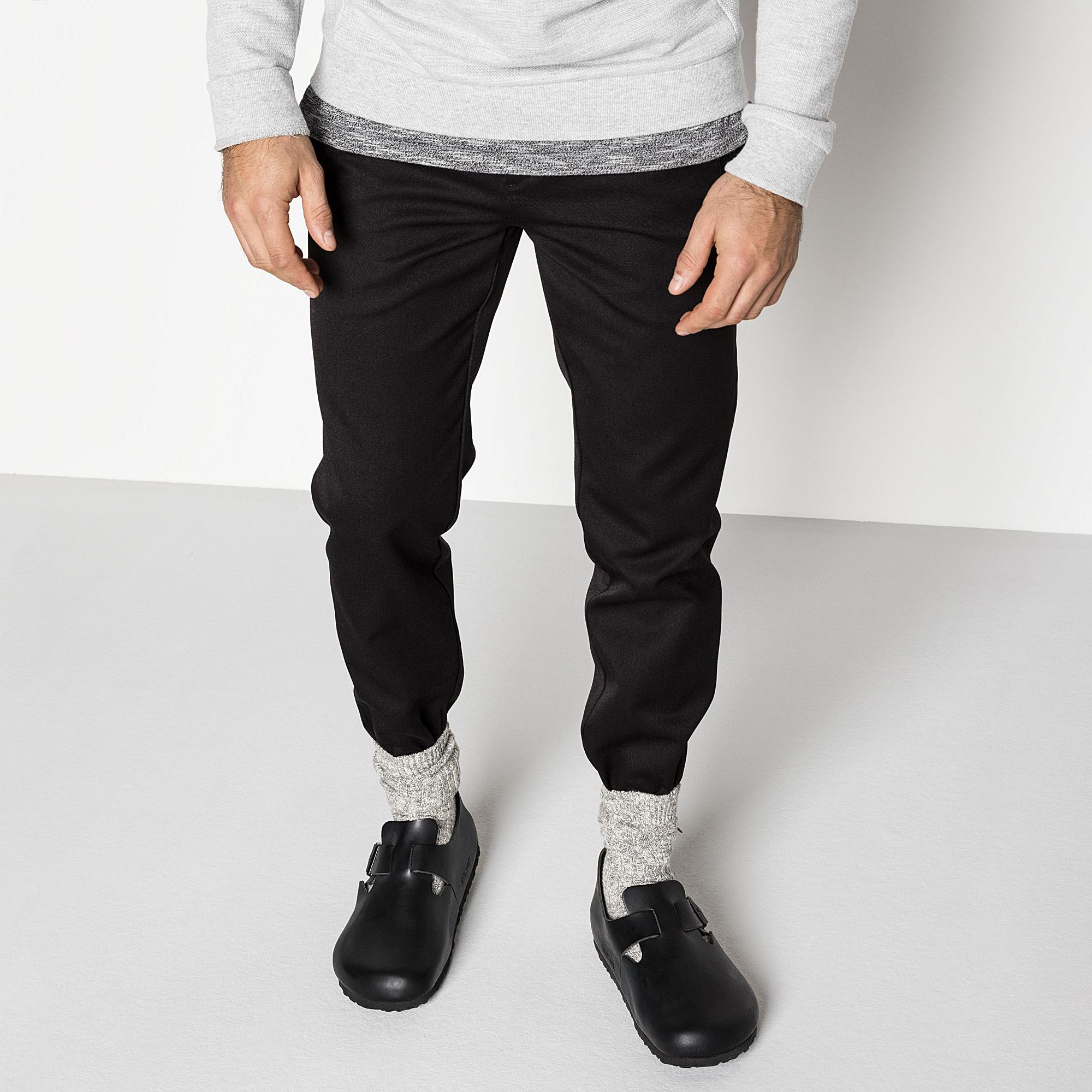 Birkenstock London Soft Footbed Hunter Black Leather Shoes