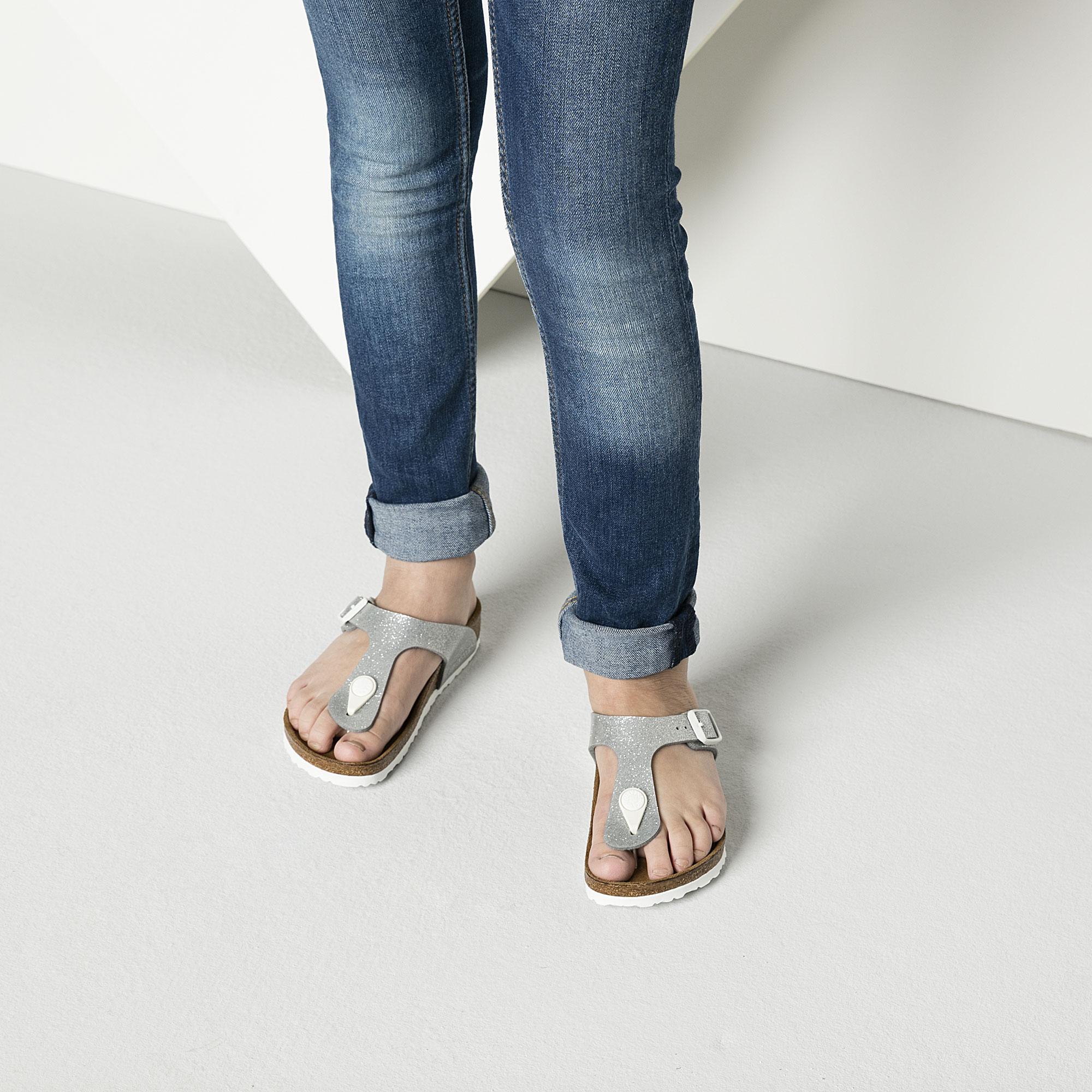 Birkenstock Gizeh Kids Magic Galaxy Girls Silver Sandal