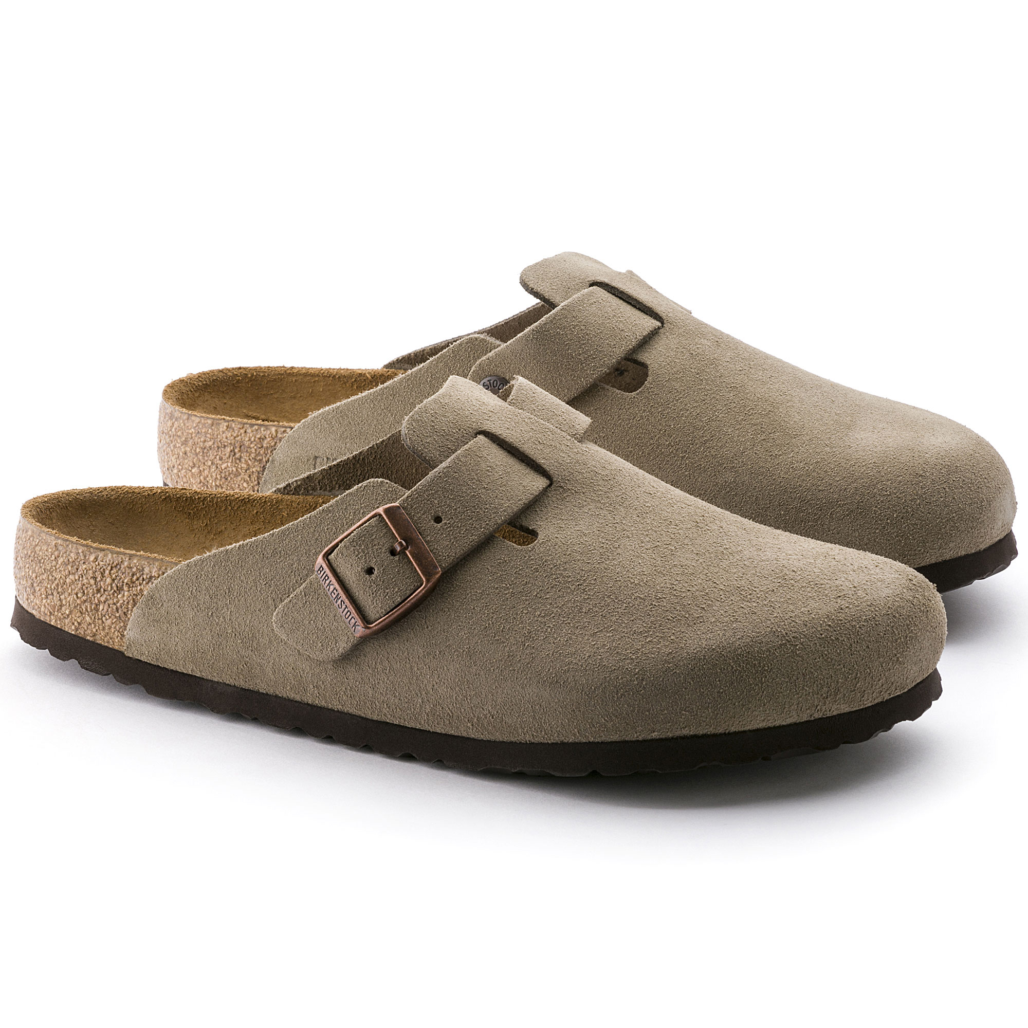 boston suede leather taupe shop online at birkenstock