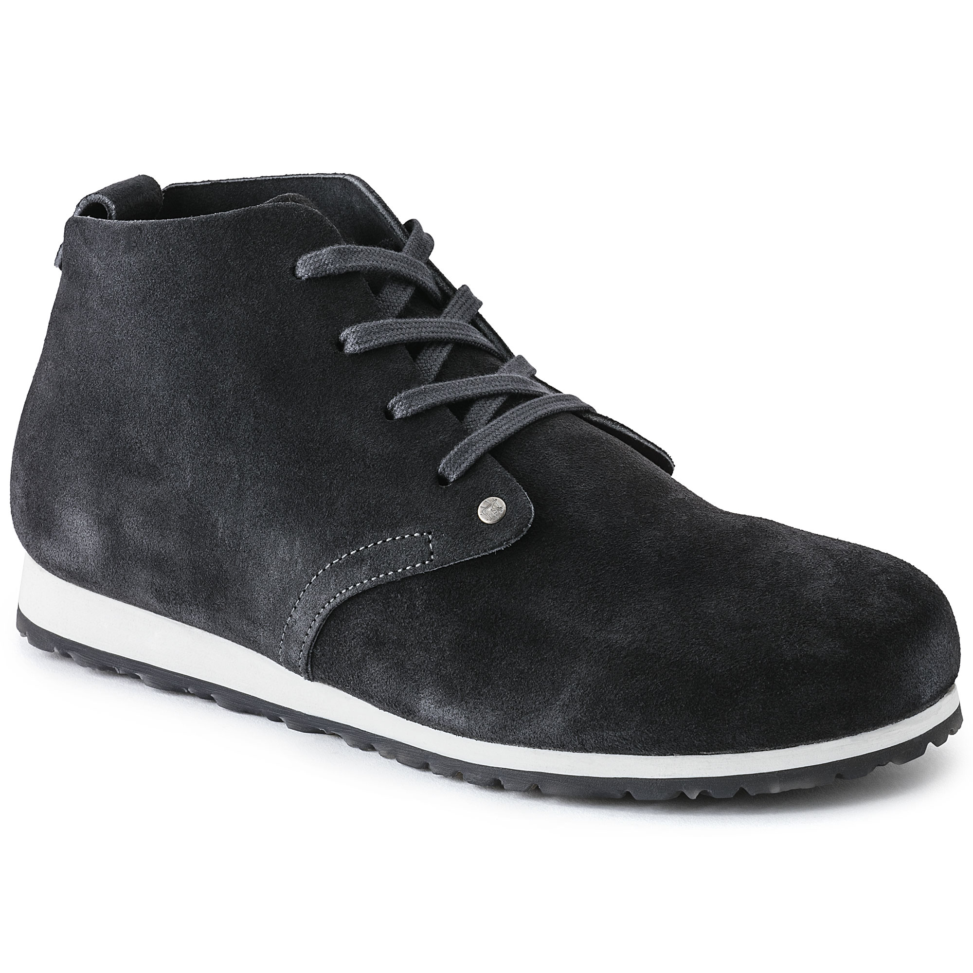 5ff807e7636f Dundee Plus Suede Leather Dark Gray ...