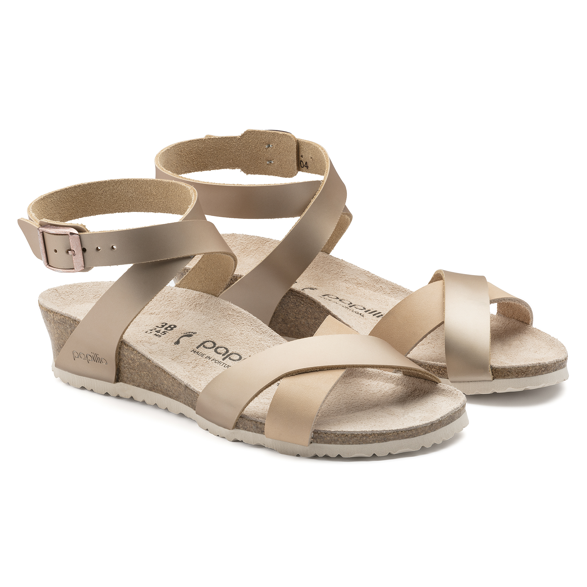b487e3c2340 ... Lola Natural Leather Frosted Metallic Rose ...