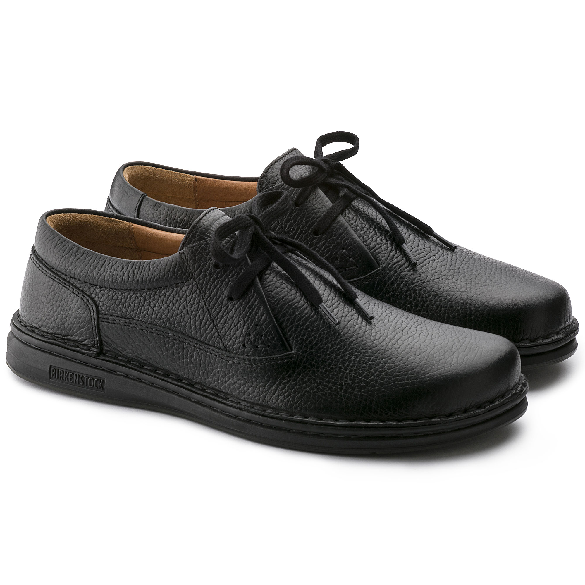 50b760149e2a ... Memphis Embossed Natural Leather Black ...