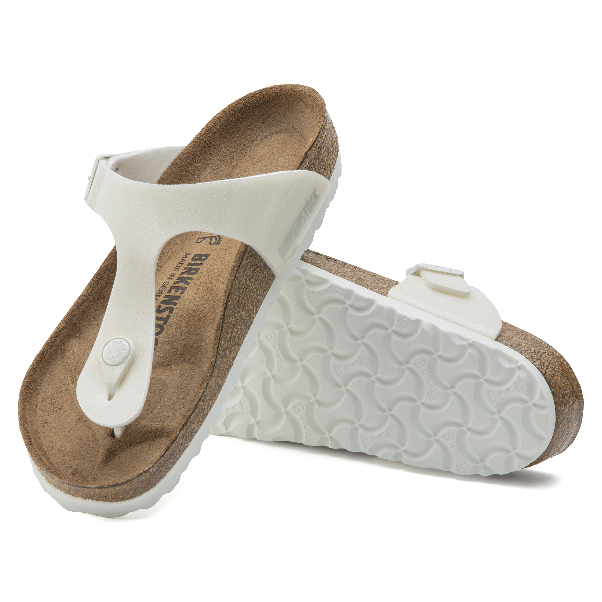 Birkenstock Gizeh Birkoflor Magic Galaxy White Softfootbed