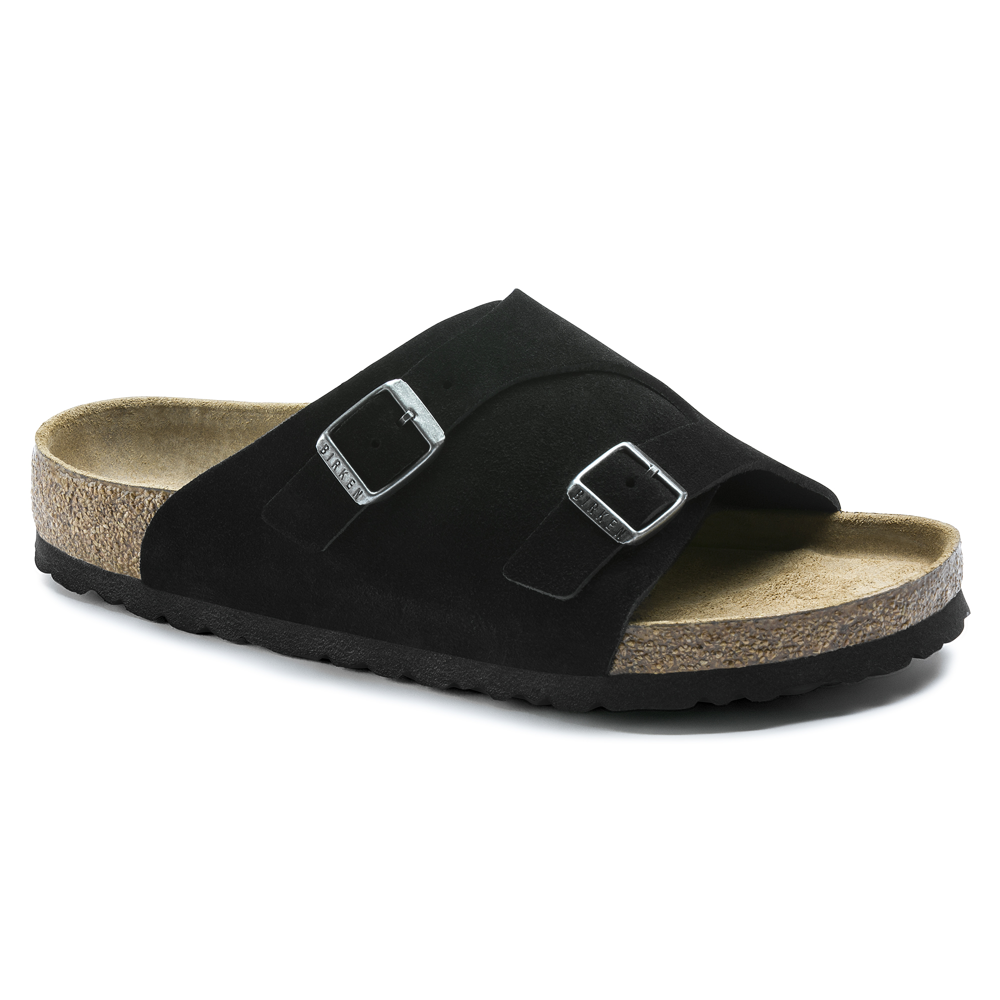 Zürich Suede Leather Soft Footbed Black