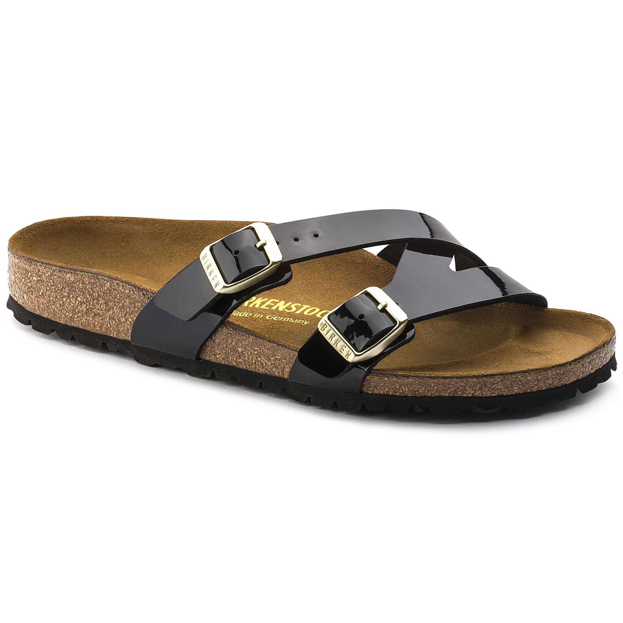 Birkenstock Arizona Birko Flor Patent Regular Fit Sandal (Black, Size 41 EU) | Shoes |