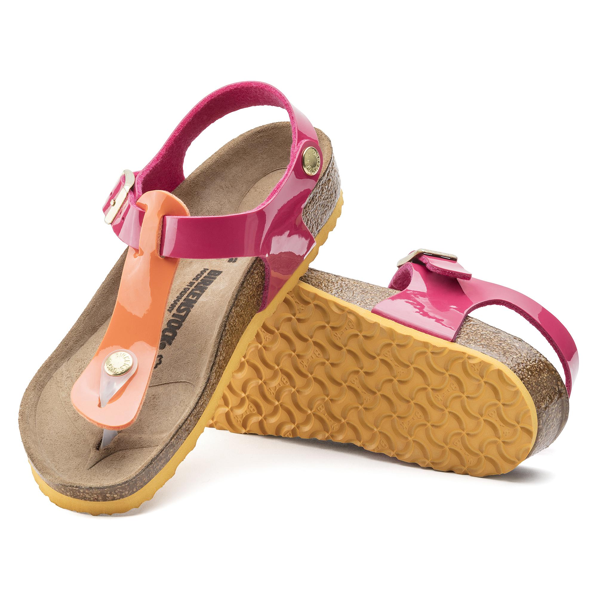 Tropical Flor Patent Birko Kairo Orange Pink tQsrhd