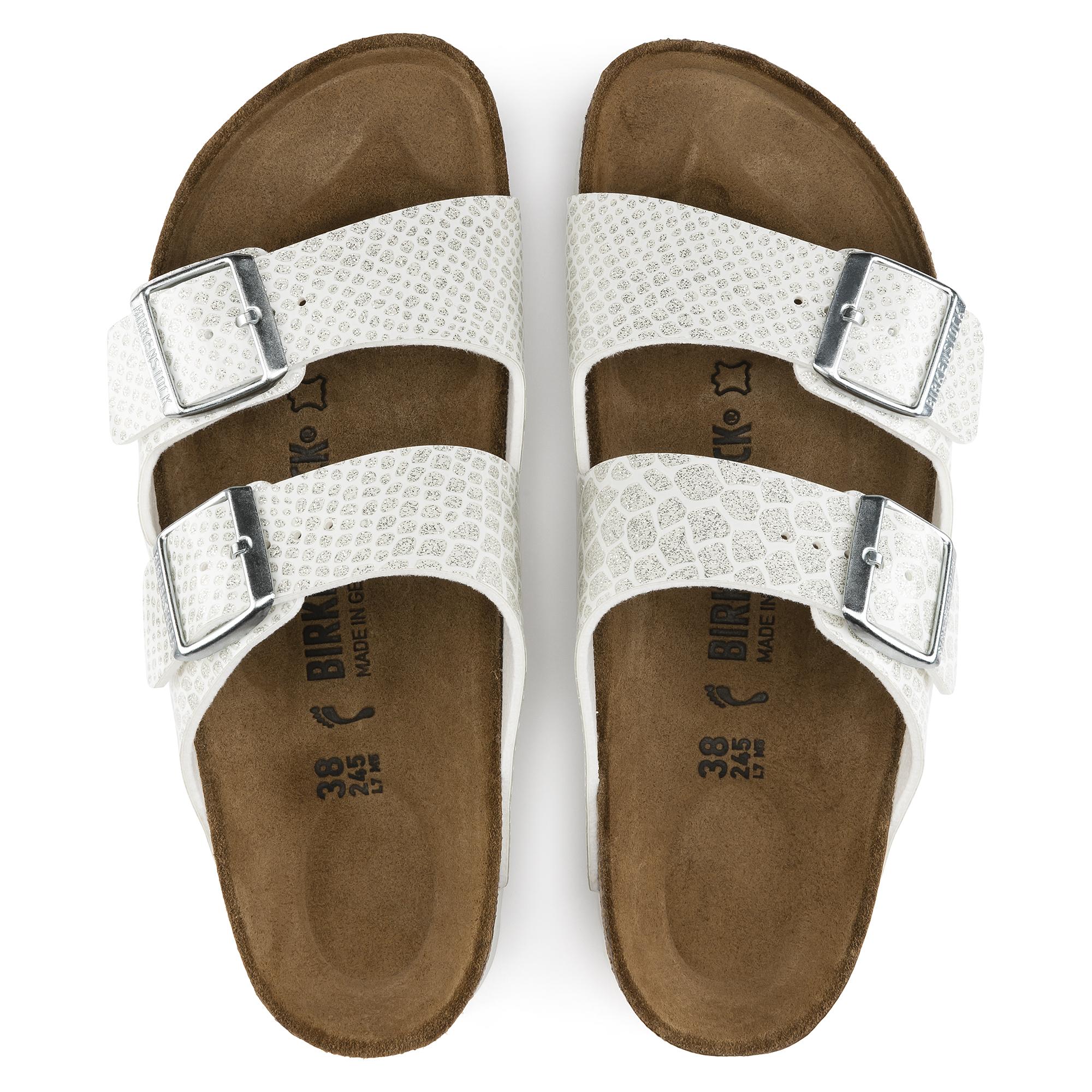 Birkenstock Arizona Magic Snake White Womens Leather Sandals