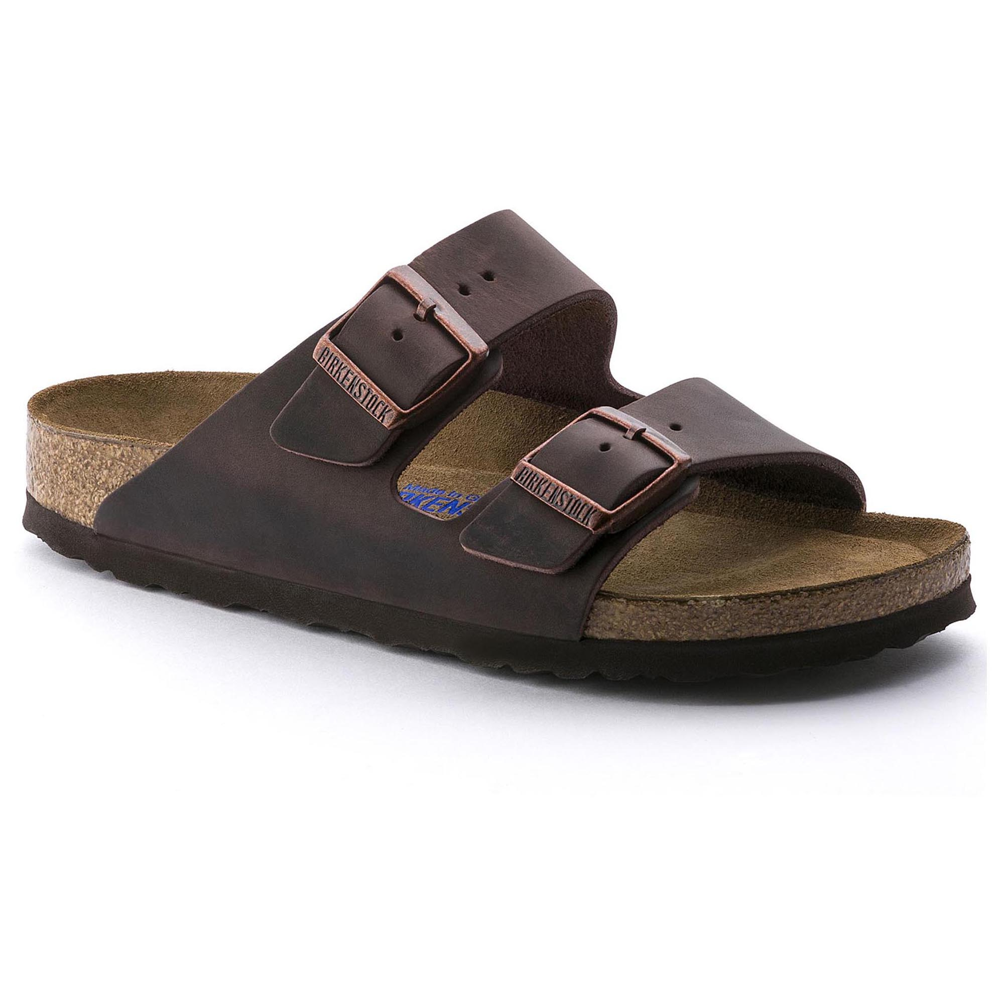 Birkenstock Men's Arizona Oiled Leather Casual Sandals Habana