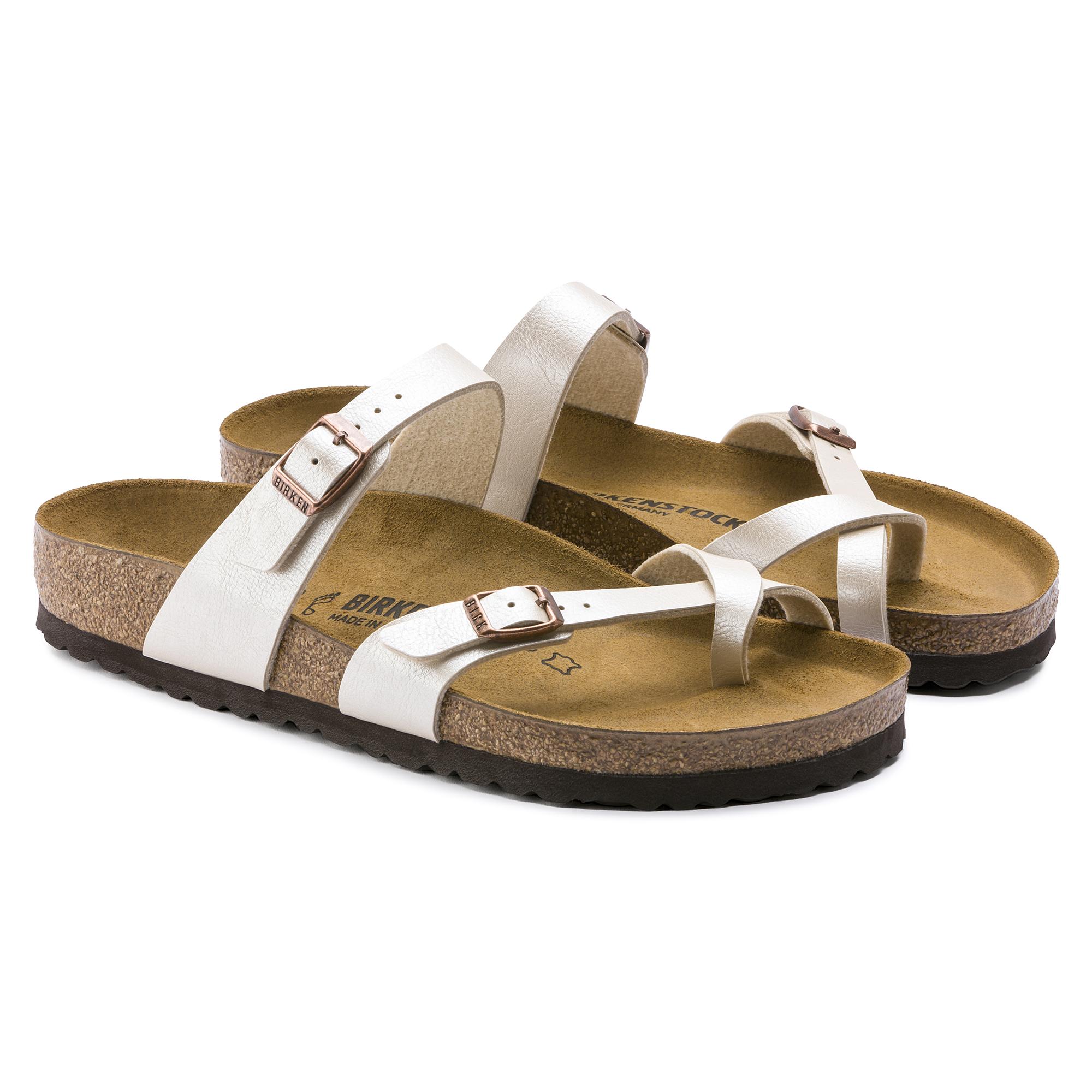Birkenstock Mayari Birko flor, Tongs femme Chaussures et