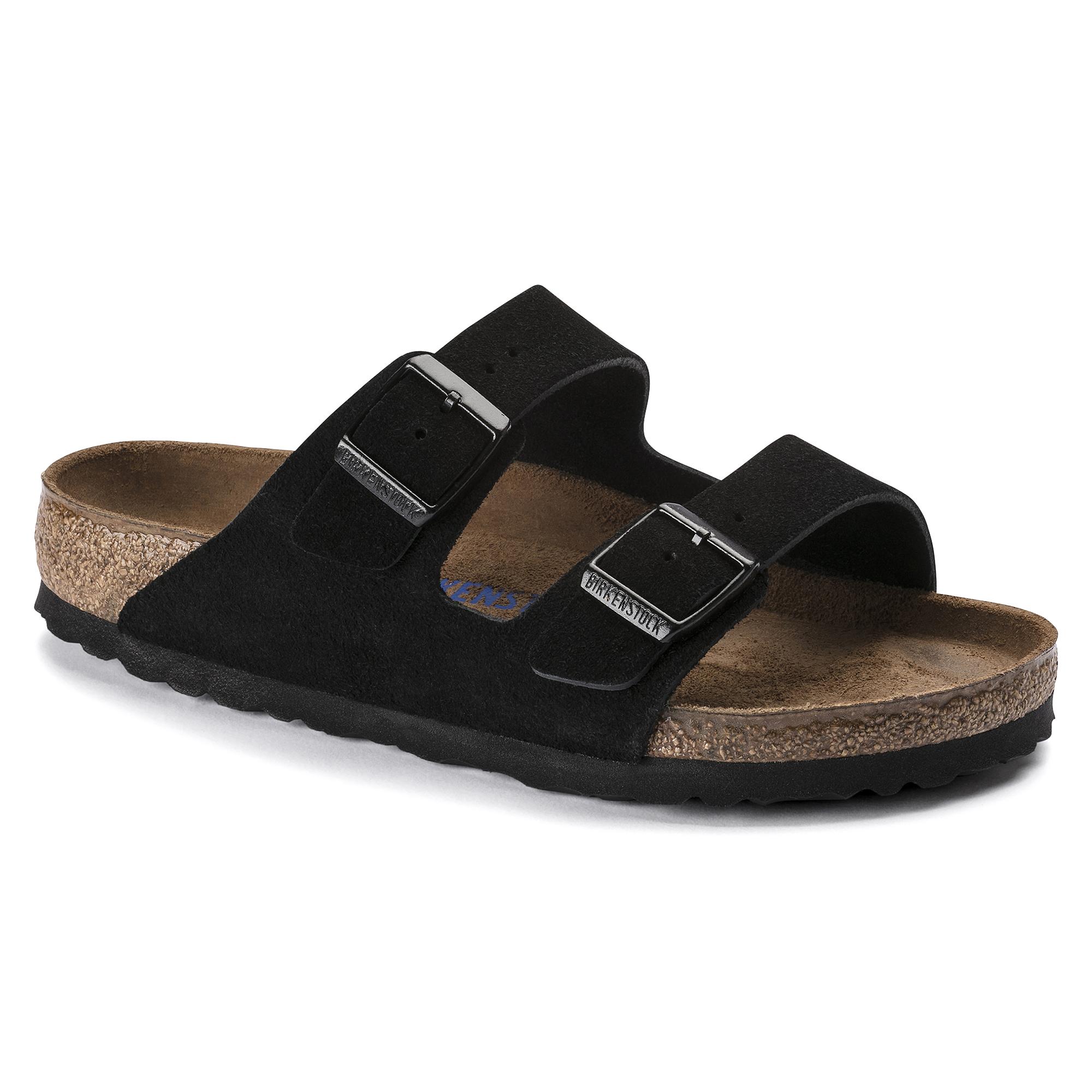 b820731e899709 Arizona Suede Leather Black