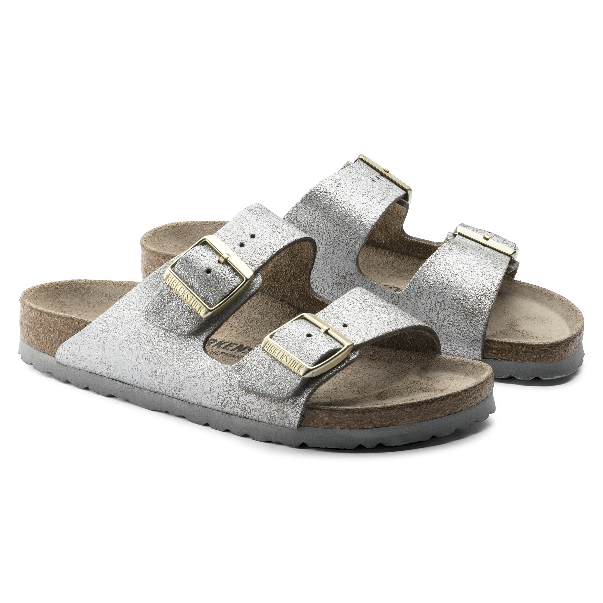 be0665ac4ef98 ... Arizona Suede Leather Washed Metallic Blue Silver ...