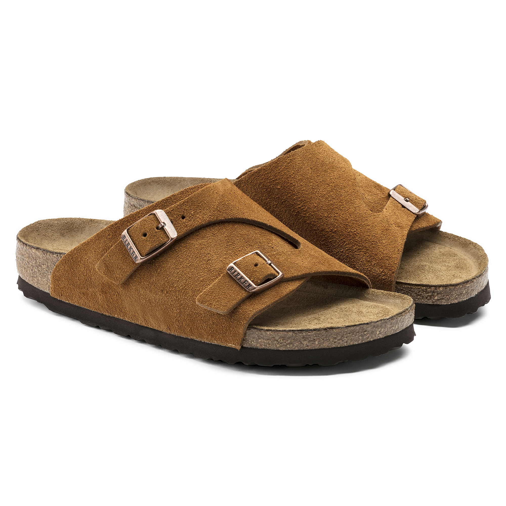 4a533df99532 ... Zürich Suede Leather Soft Footbed Mink ...
