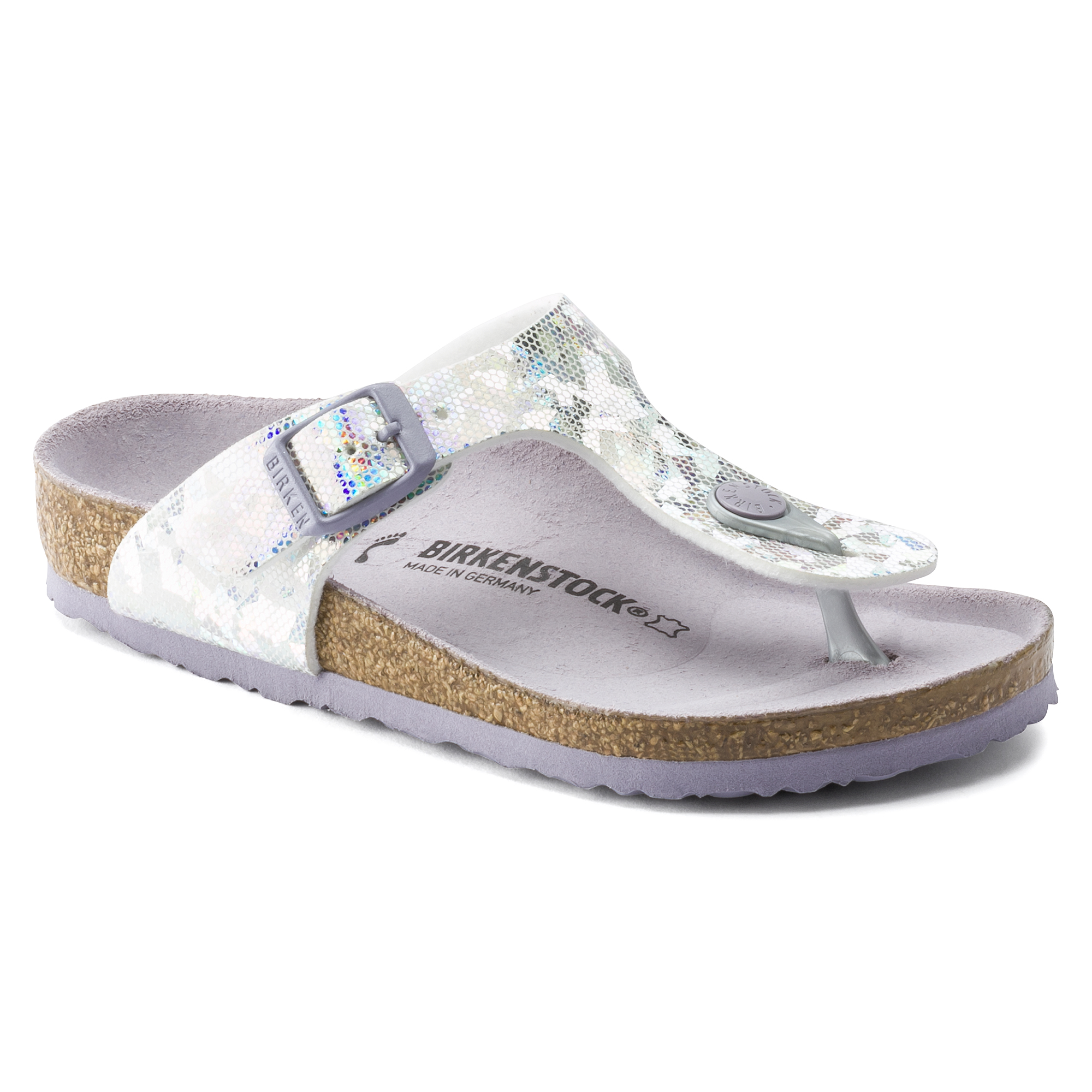 Birkenstock Gizeh Kids Hologram Silver