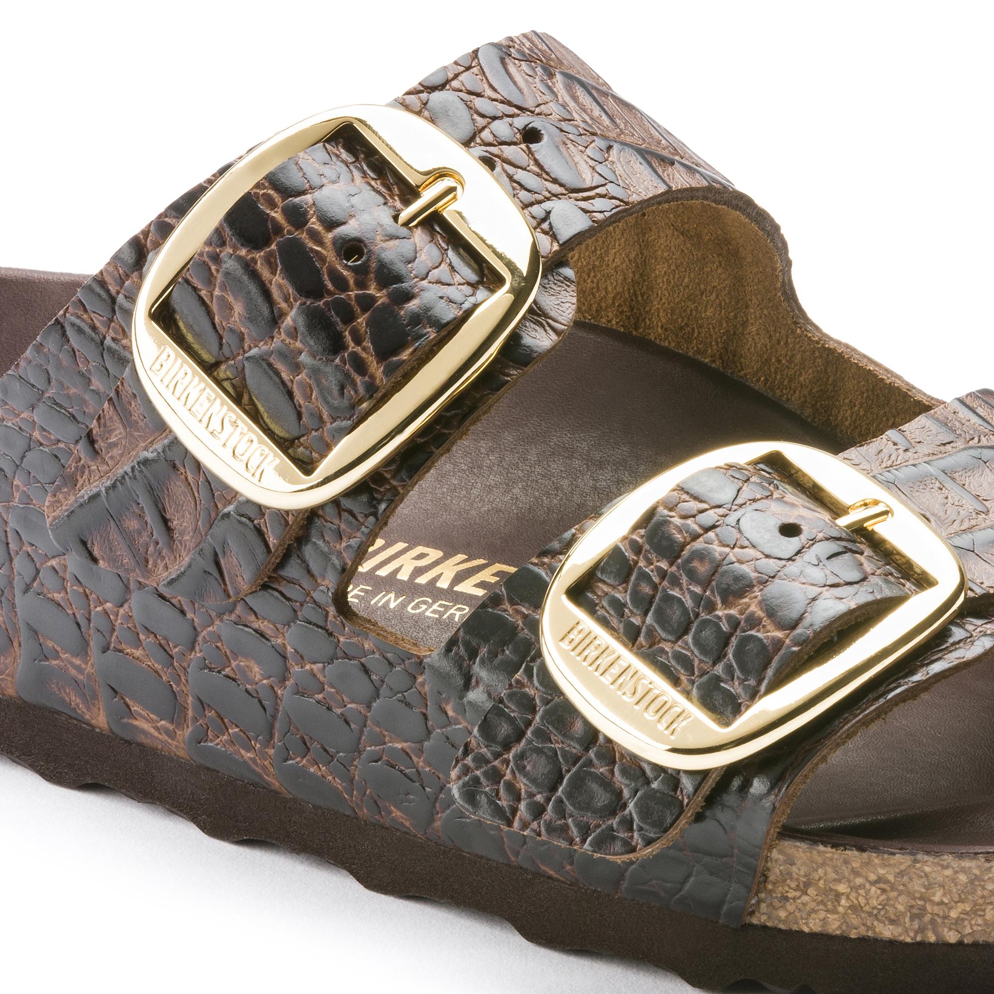 37d52458fb33 ... Arizona Embossed Natural Leather Gator Brown