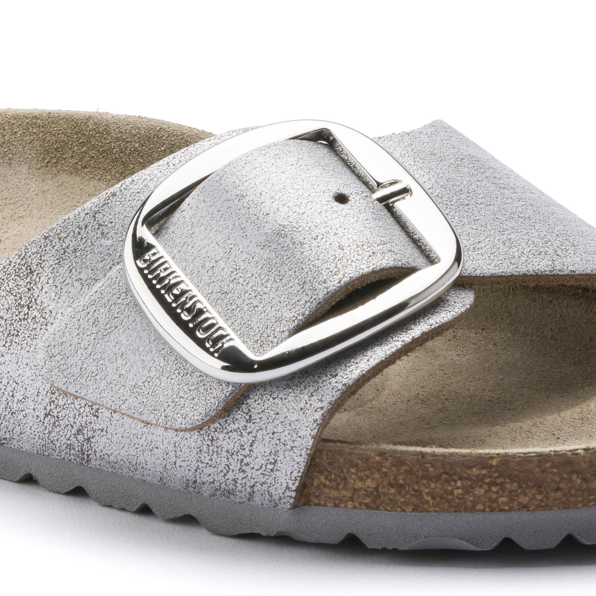 Birkenstock Madrid washed metallic blue silver 1012886