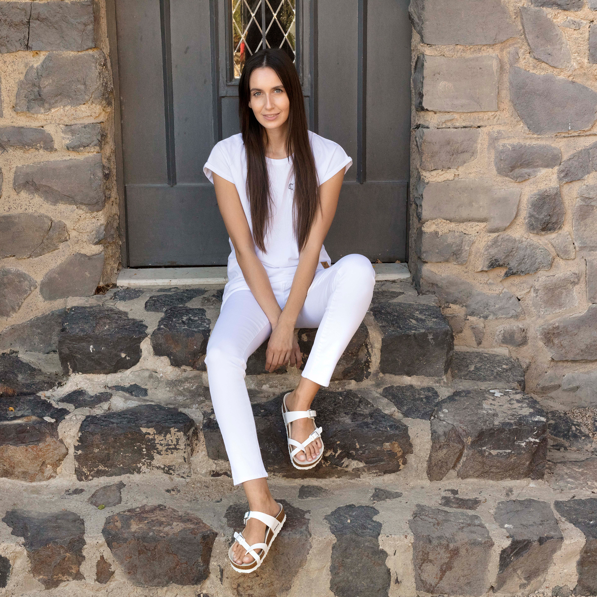 Birkenstock Mayari Sandal Size 42 White, Men's Fashion