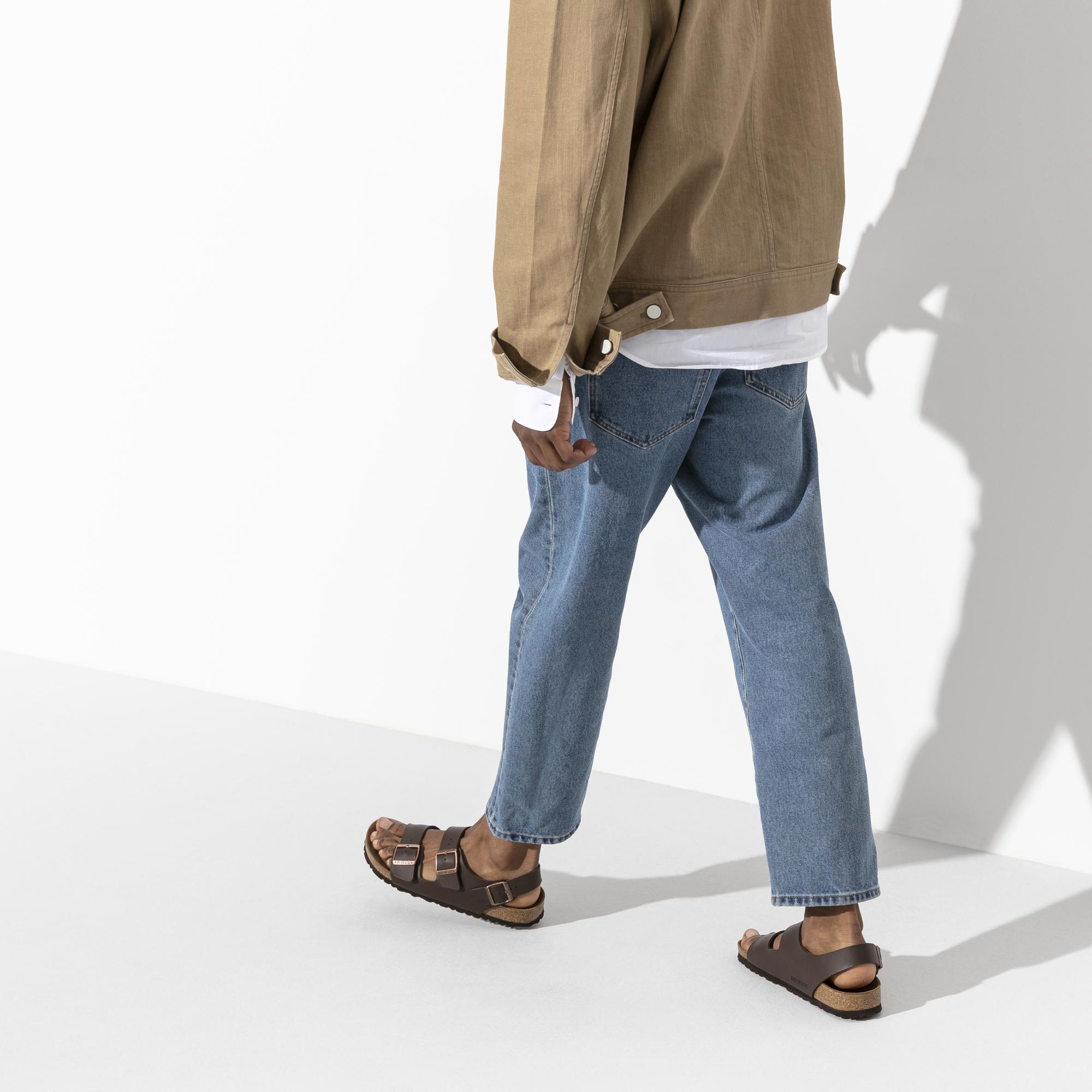 Details about Birkenstock Milano White Mens Birko Flor Three Straps Sandals