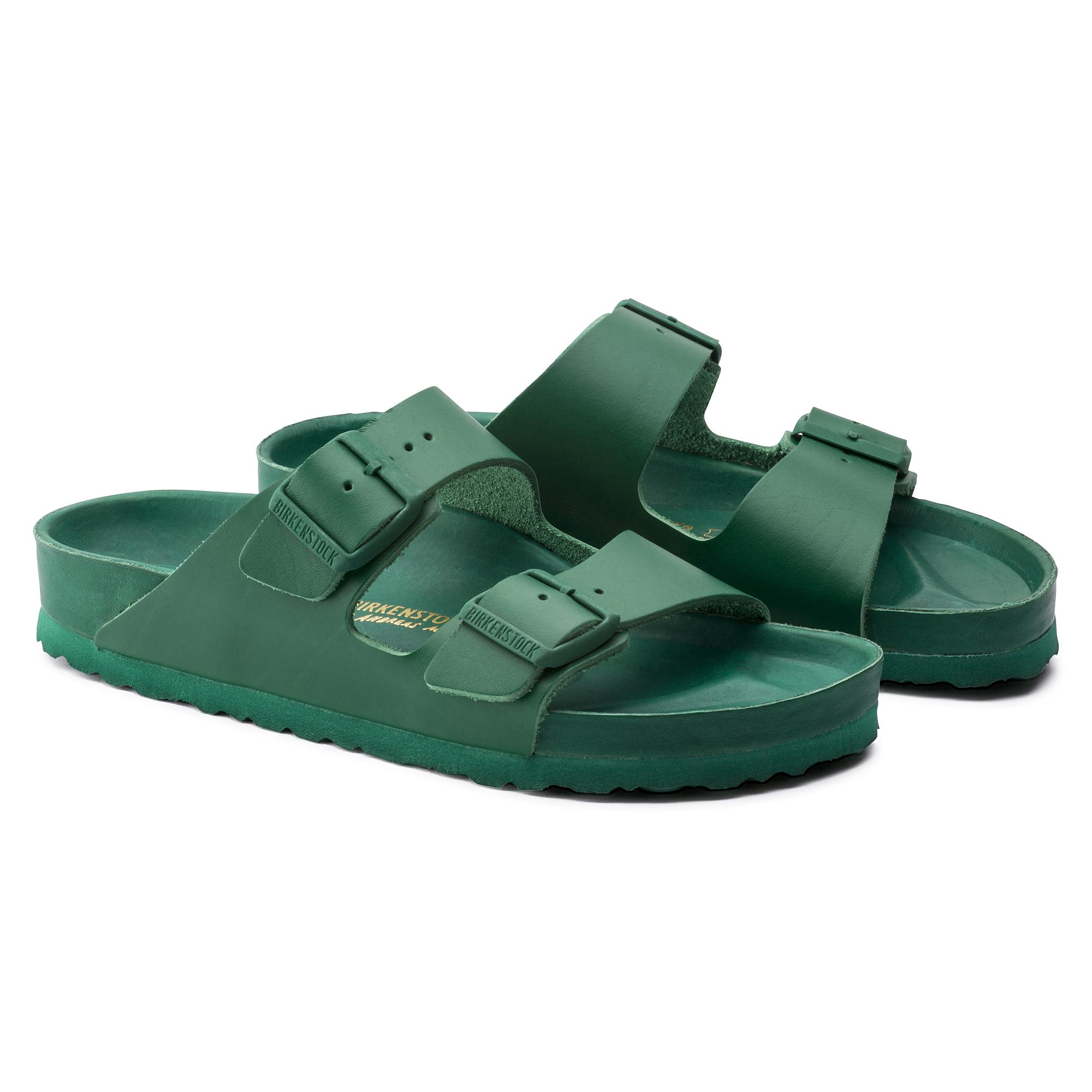 720d8f625 Arizona Natural Leather Green | shop online at BIRKENSTOCK