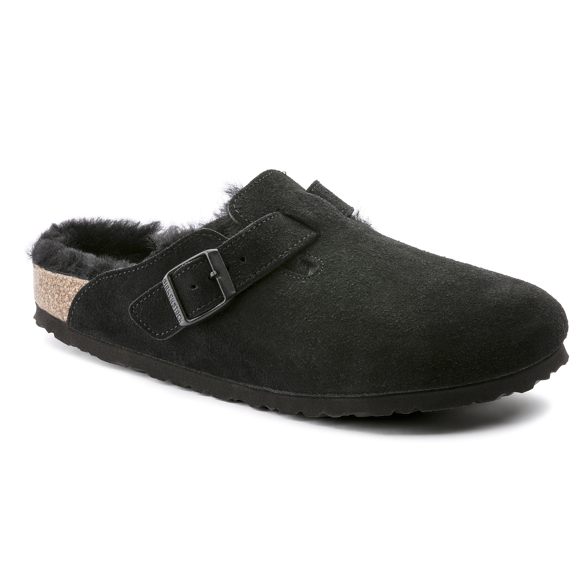 ffdd15ac25c5 Boston Suede Leather Black